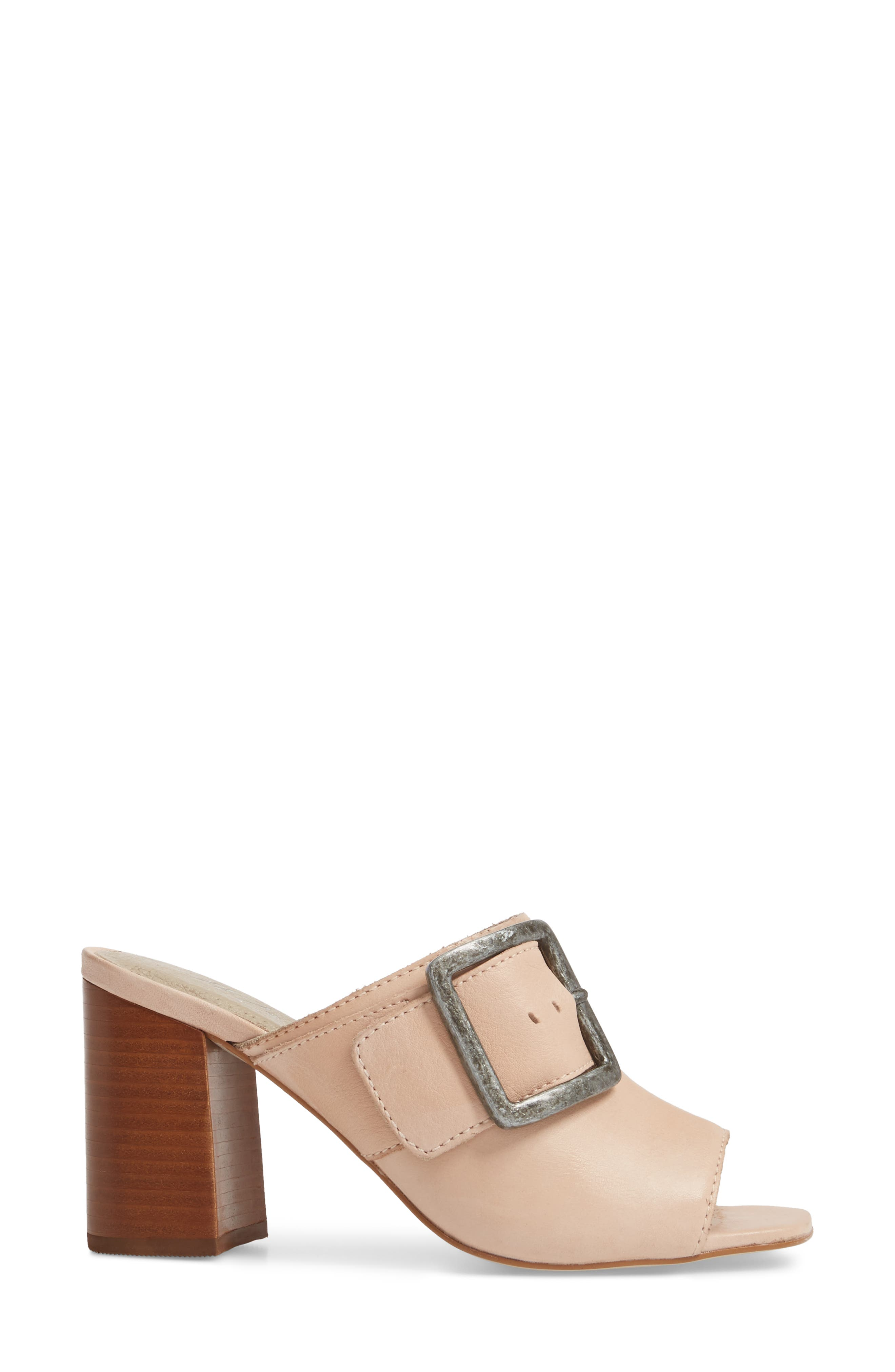 Beatrice Sandal,                             Alternate thumbnail 3, color,                             Nude Leather