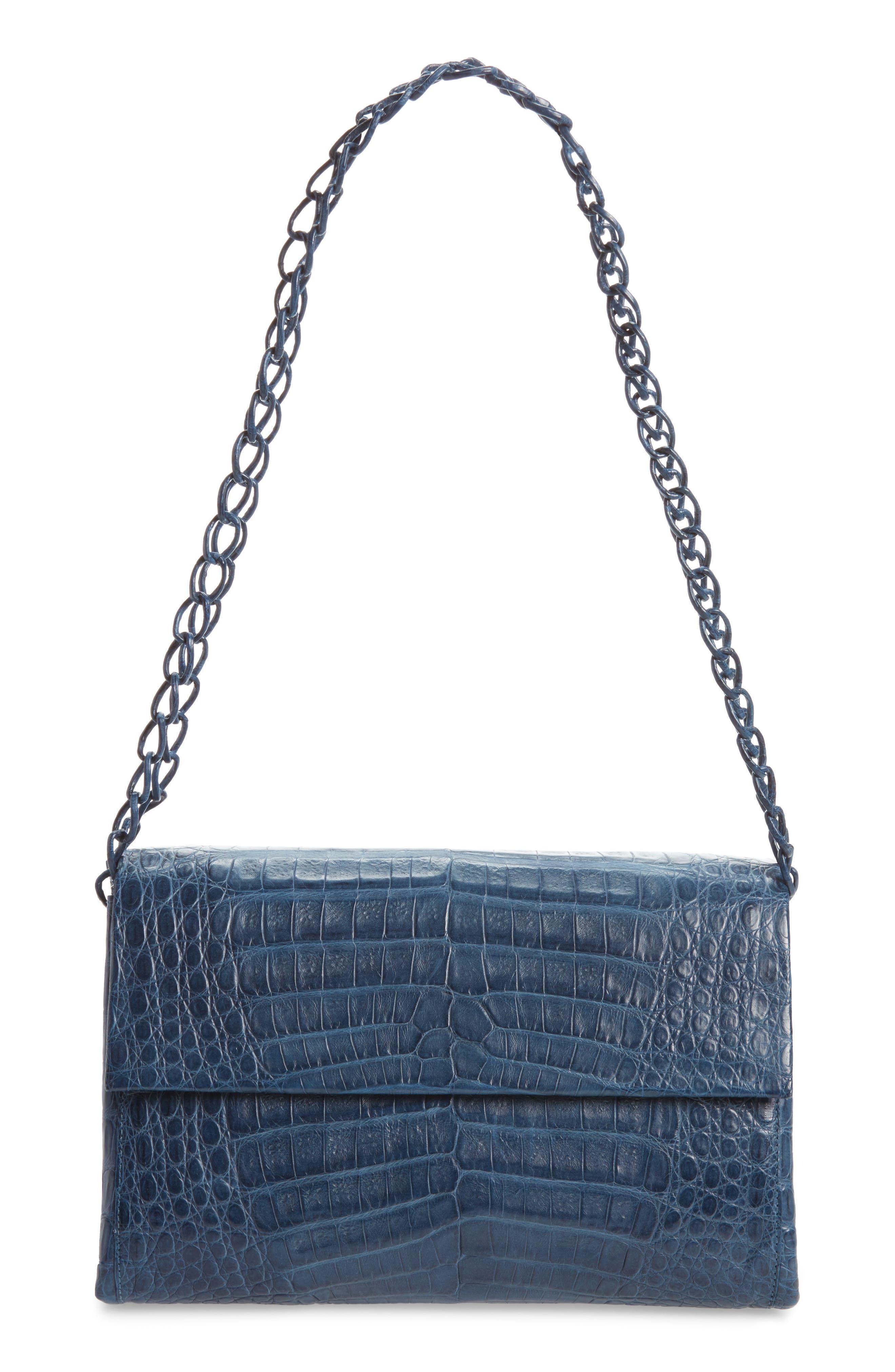 Alternate Image 1 Selected - Nancy Gonzalez Genuine Crocodile Shoulder Bag