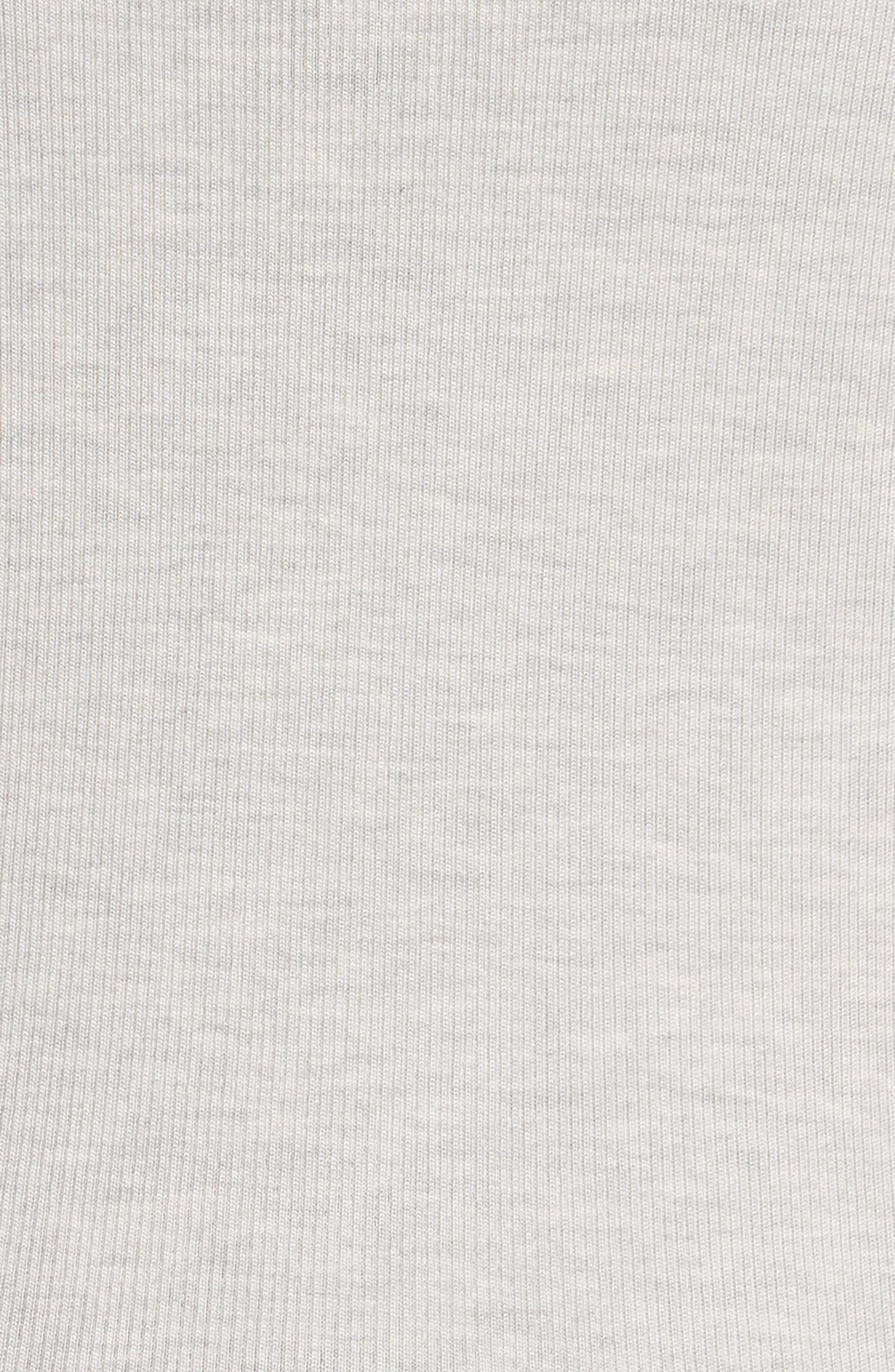 Rib Knit Silk Blend Sweater,                             Alternate thumbnail 5, color,                             Pebble Melange