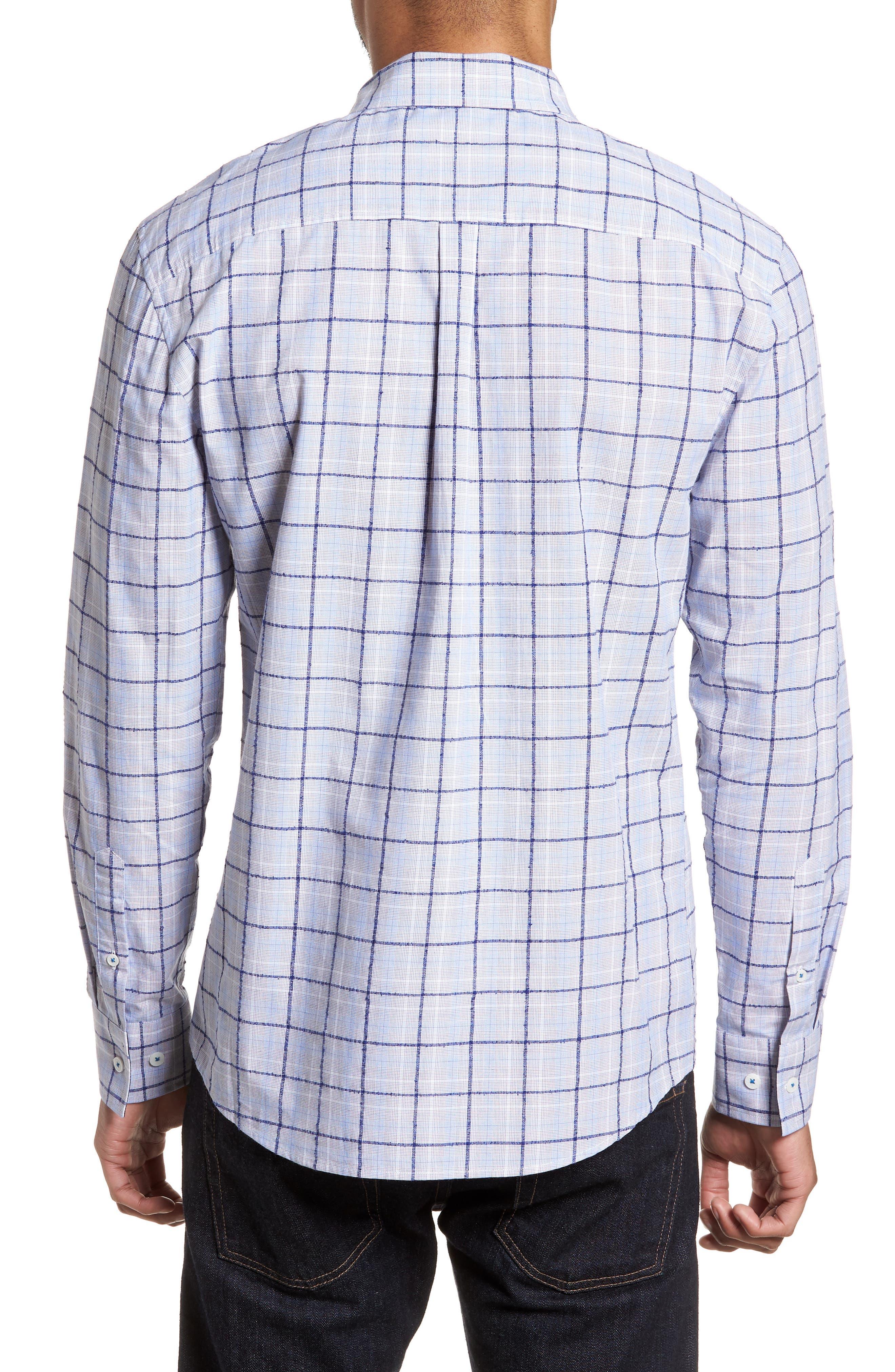 Slim Fit Bouclé Plaid Sport Shirt,                             Alternate thumbnail 2, color,                             Blue Boucle Plaid