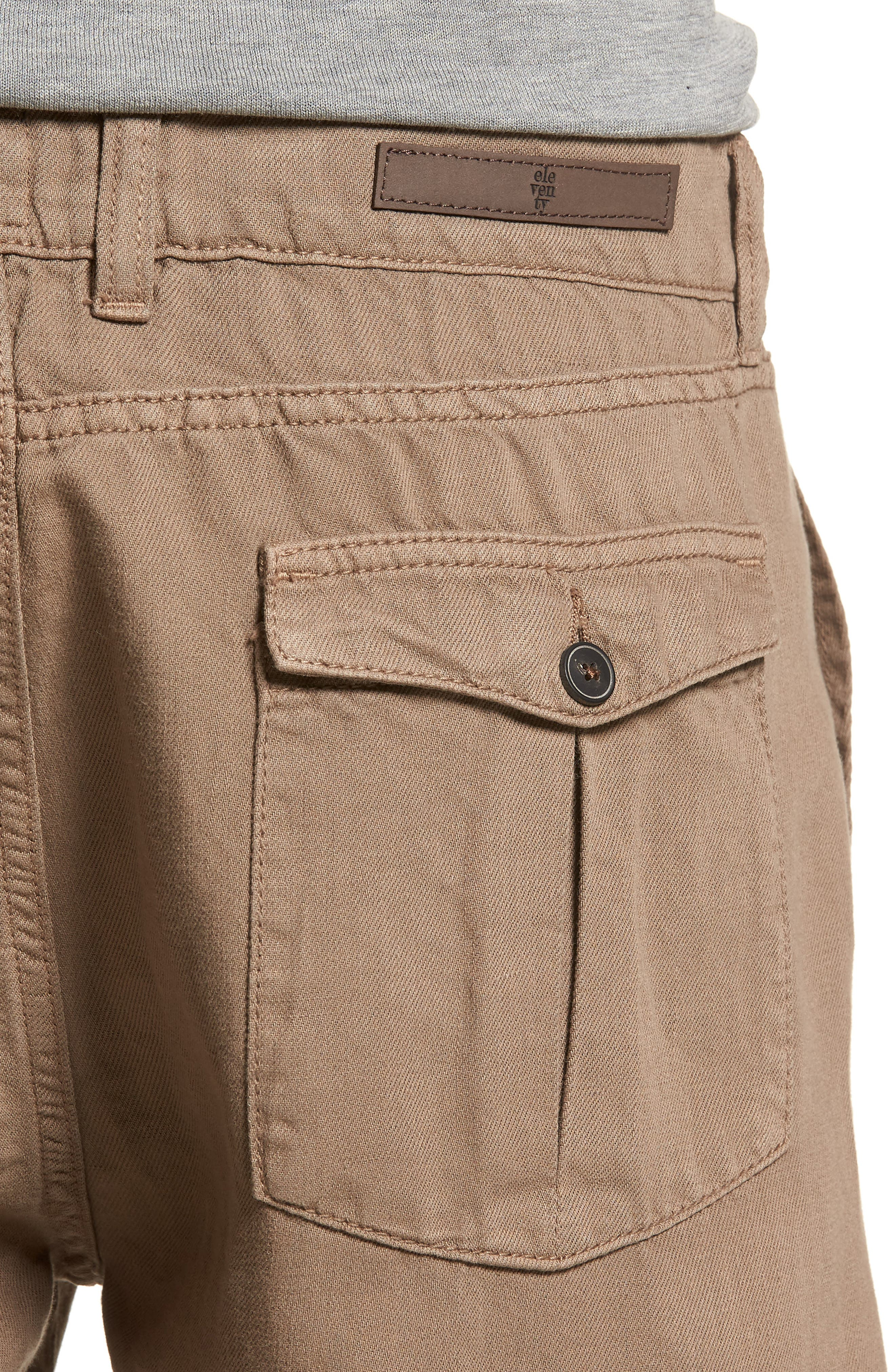 Fatique Bermuda Shorts,                             Alternate thumbnail 4, color,                             Taupe