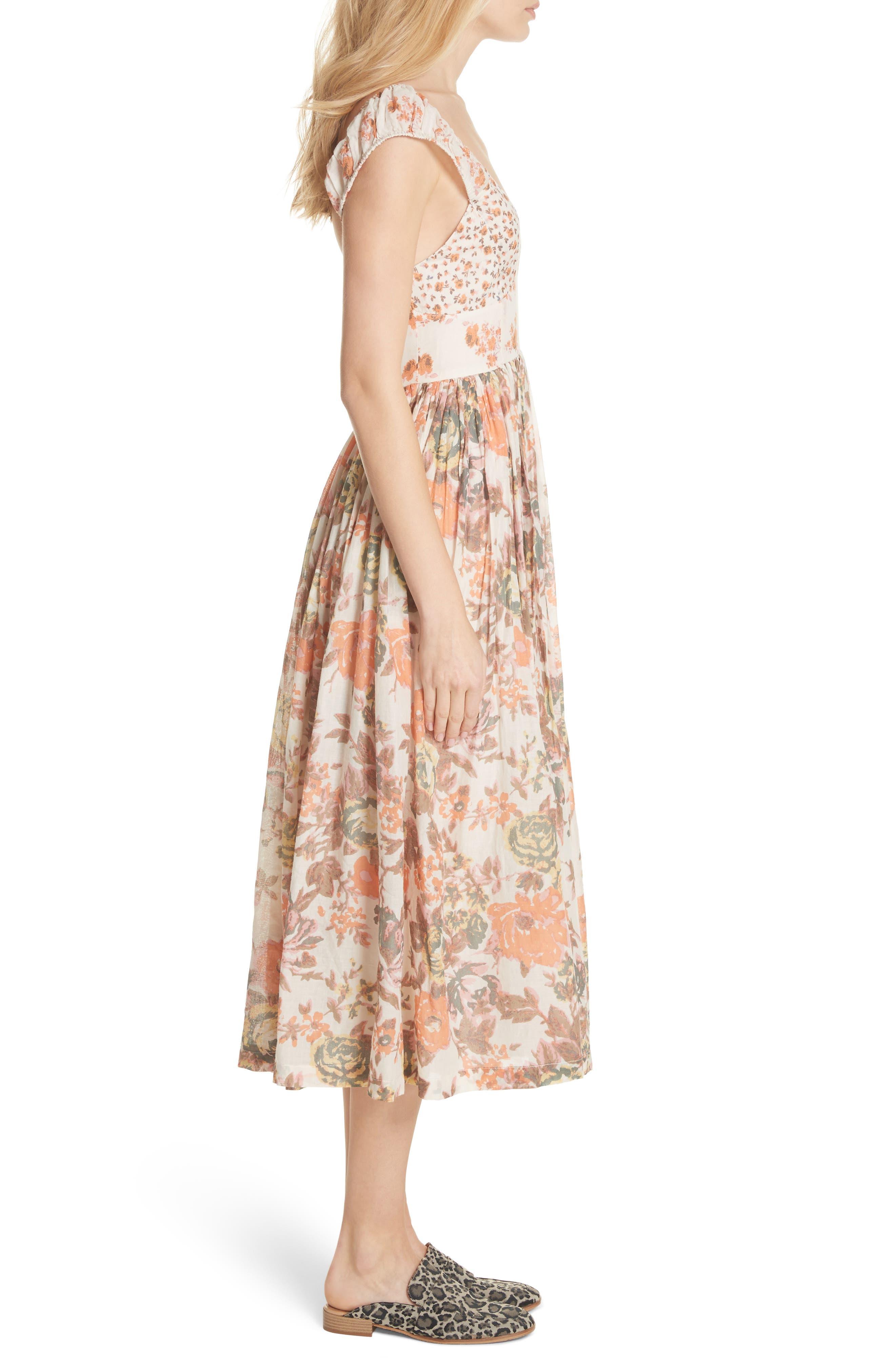 Love You Midi Dress,                             Alternate thumbnail 3, color,                             Ivory
