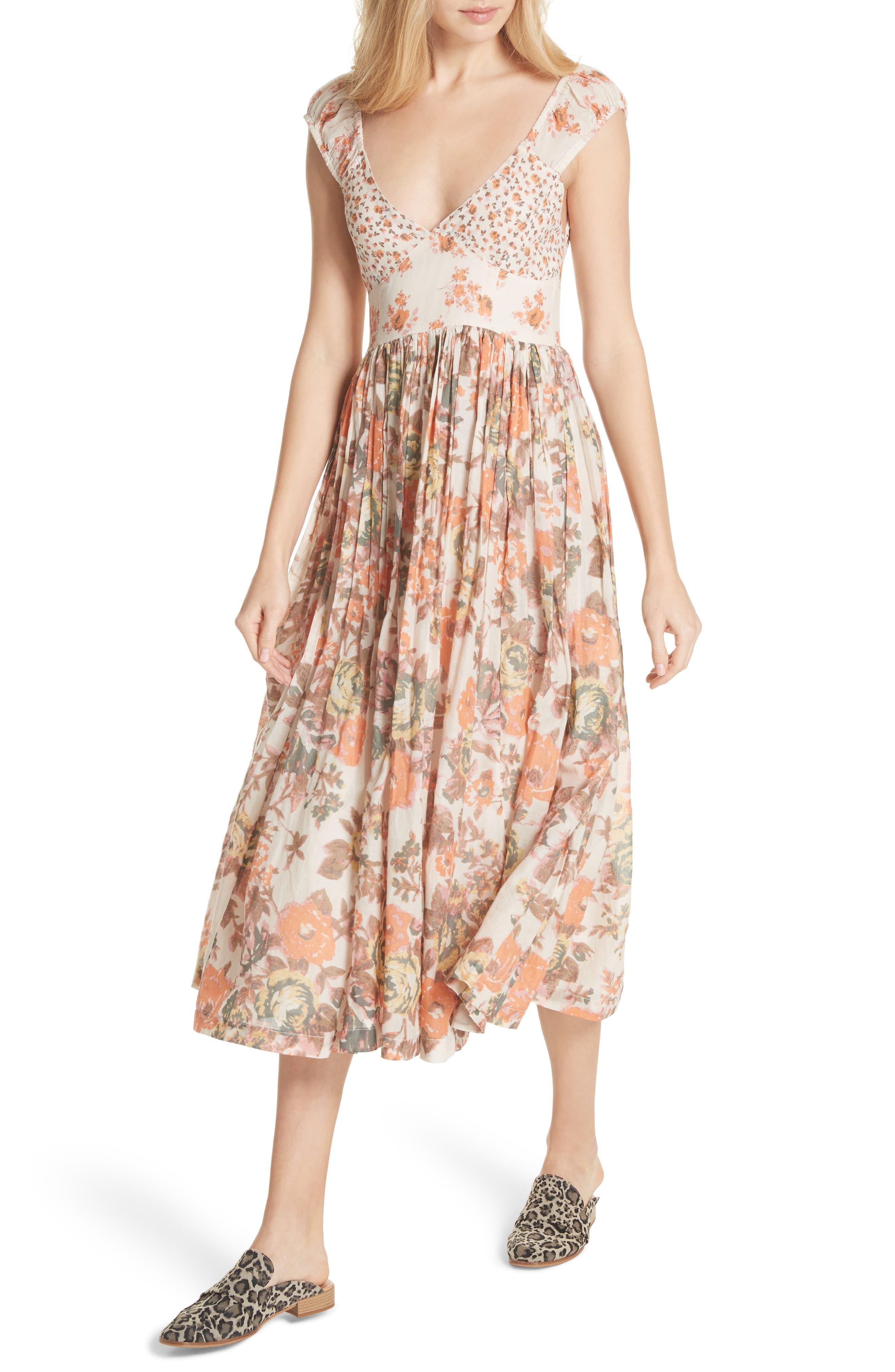 Love You Midi Dress,                             Alternate thumbnail 4, color,                             Ivory