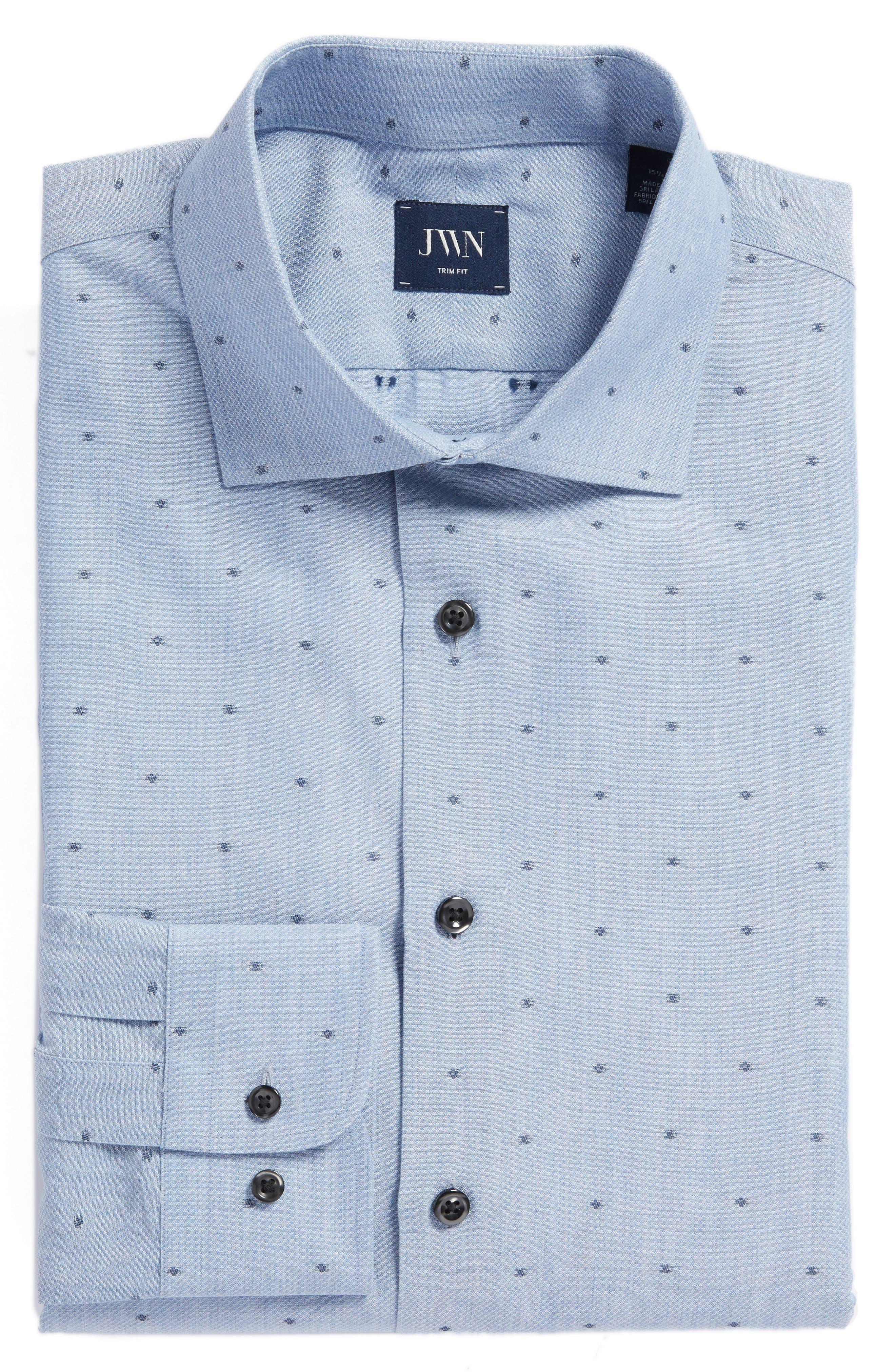 John W. Nordstrom® Trim Fit Dot Dress Shirt