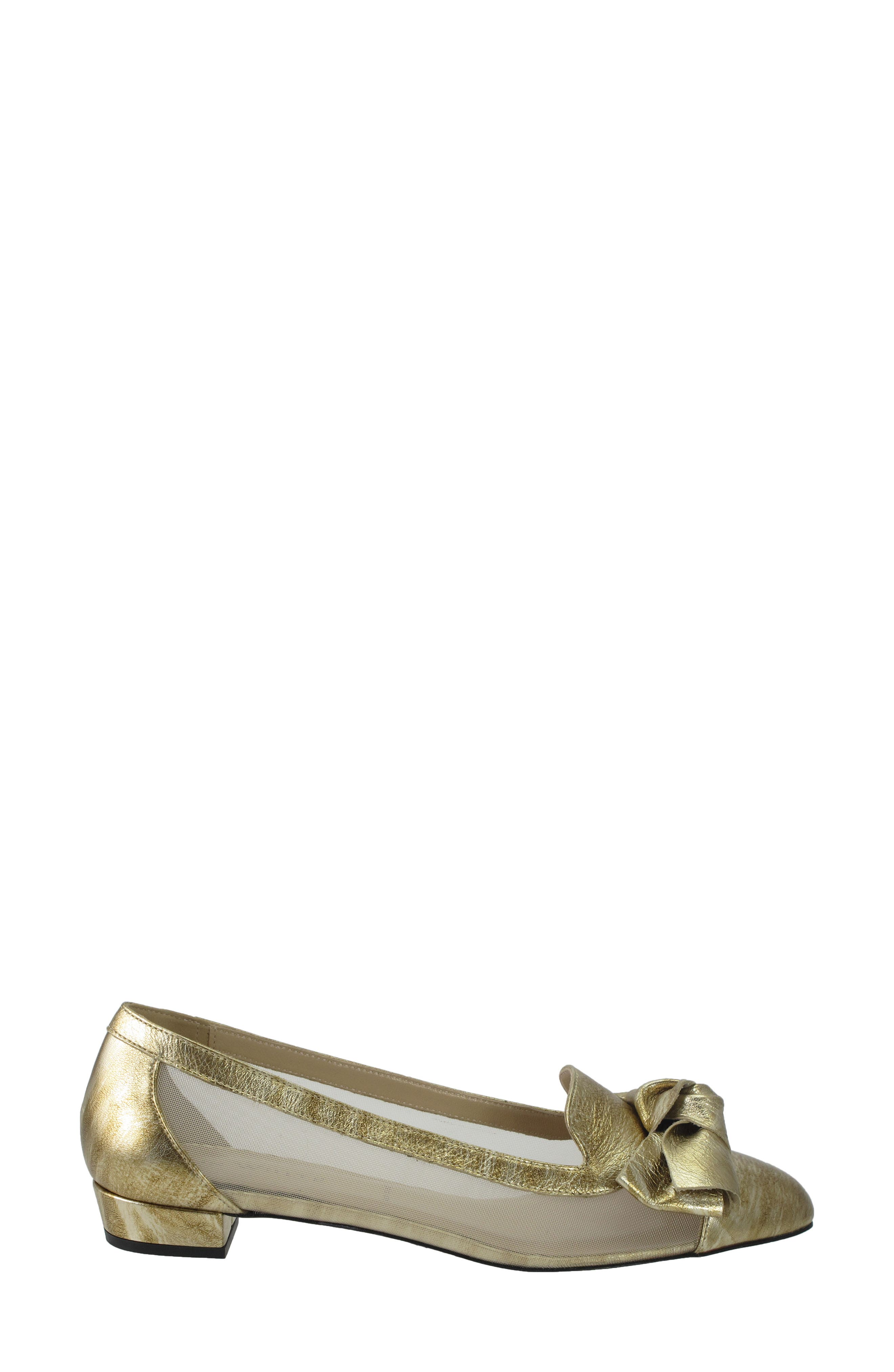 Hetti Bow Pump,                             Alternate thumbnail 4, color,                             Rose Gold Leather