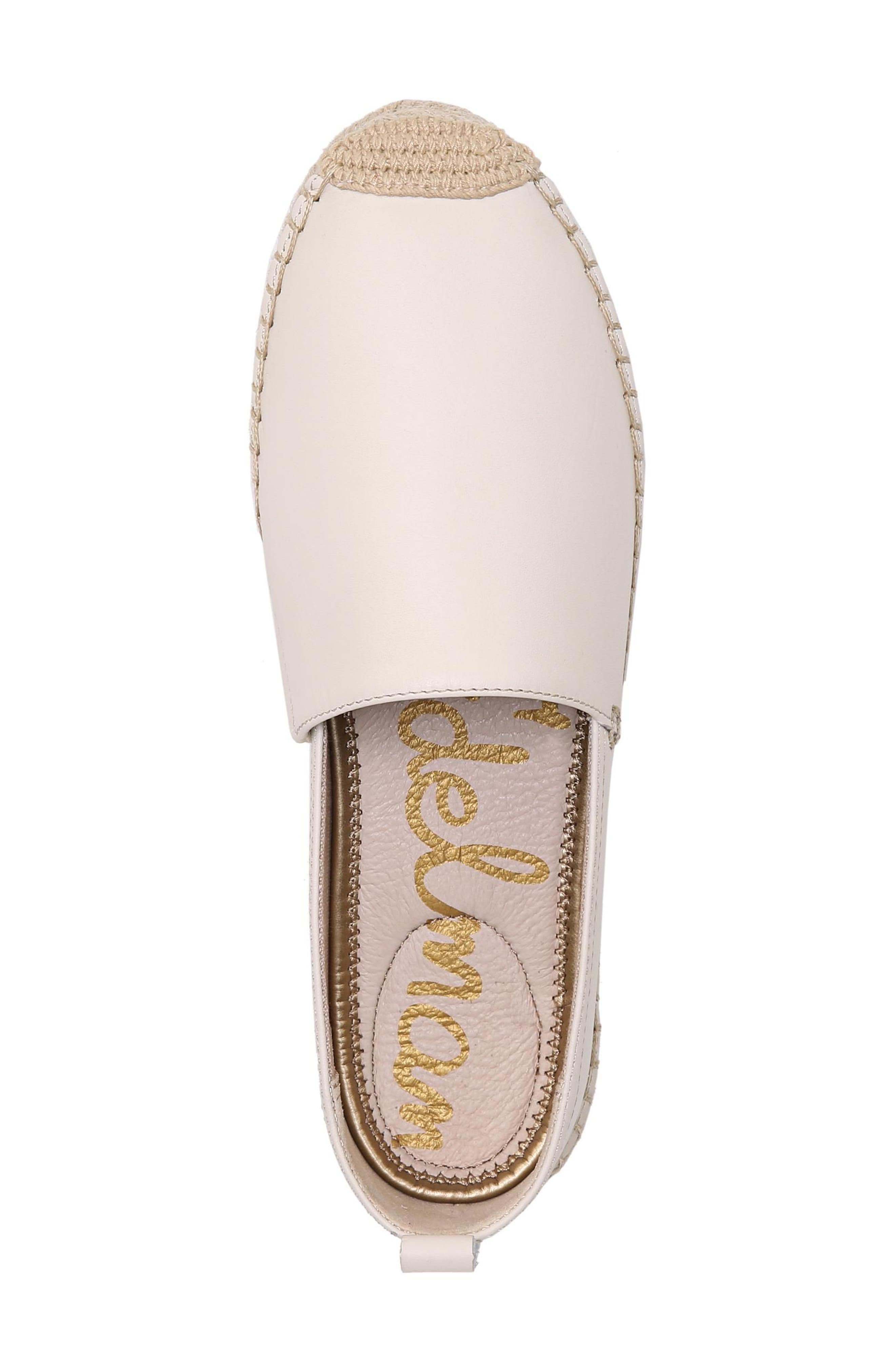 Khloe Espadrille Flat,                             Alternate thumbnail 5, color,                             Modern Ivory Leather