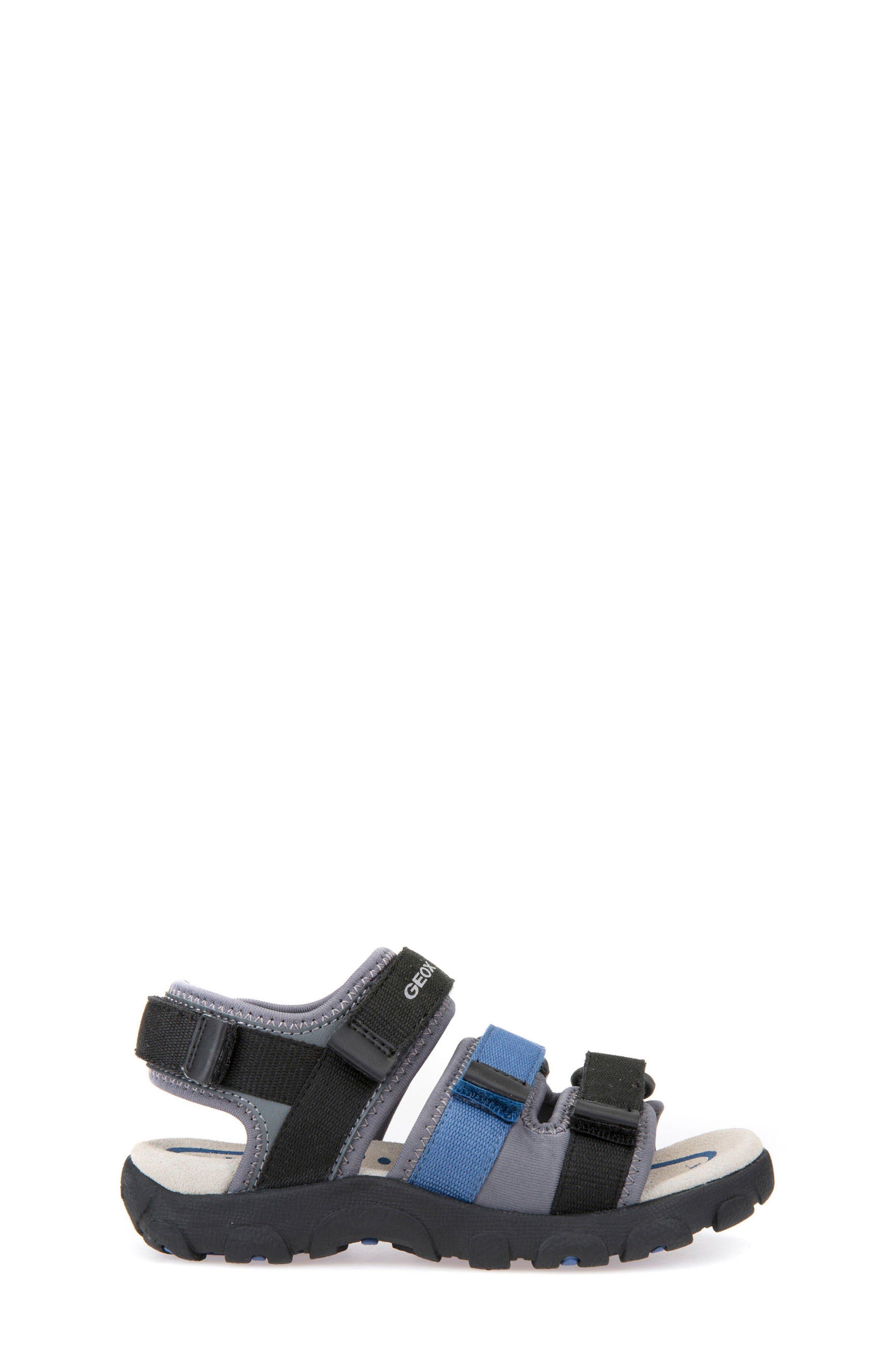 Strada Sandal,                             Alternate thumbnail 3, color,                             Black/ Blue