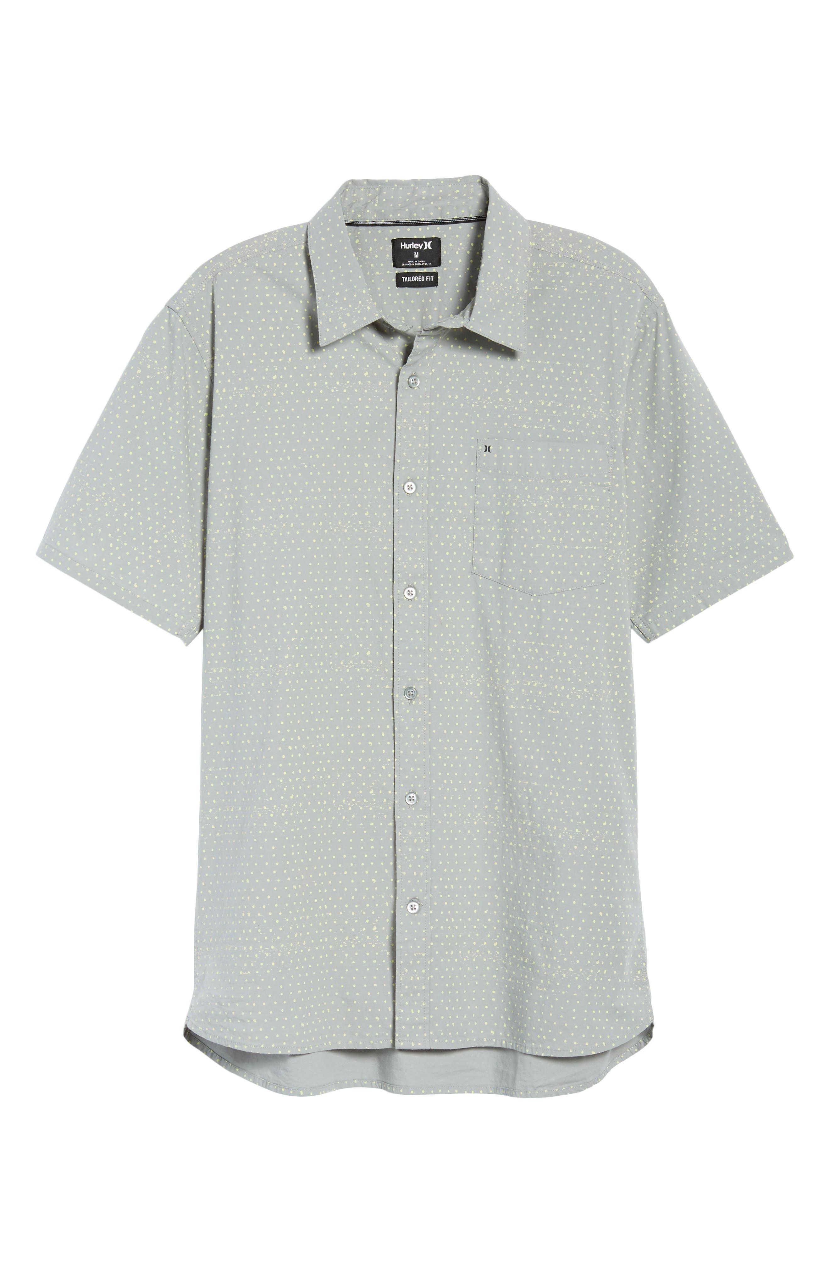 Jones Dot Woven Shirt,                             Alternate thumbnail 6, color,                             Light Pumice