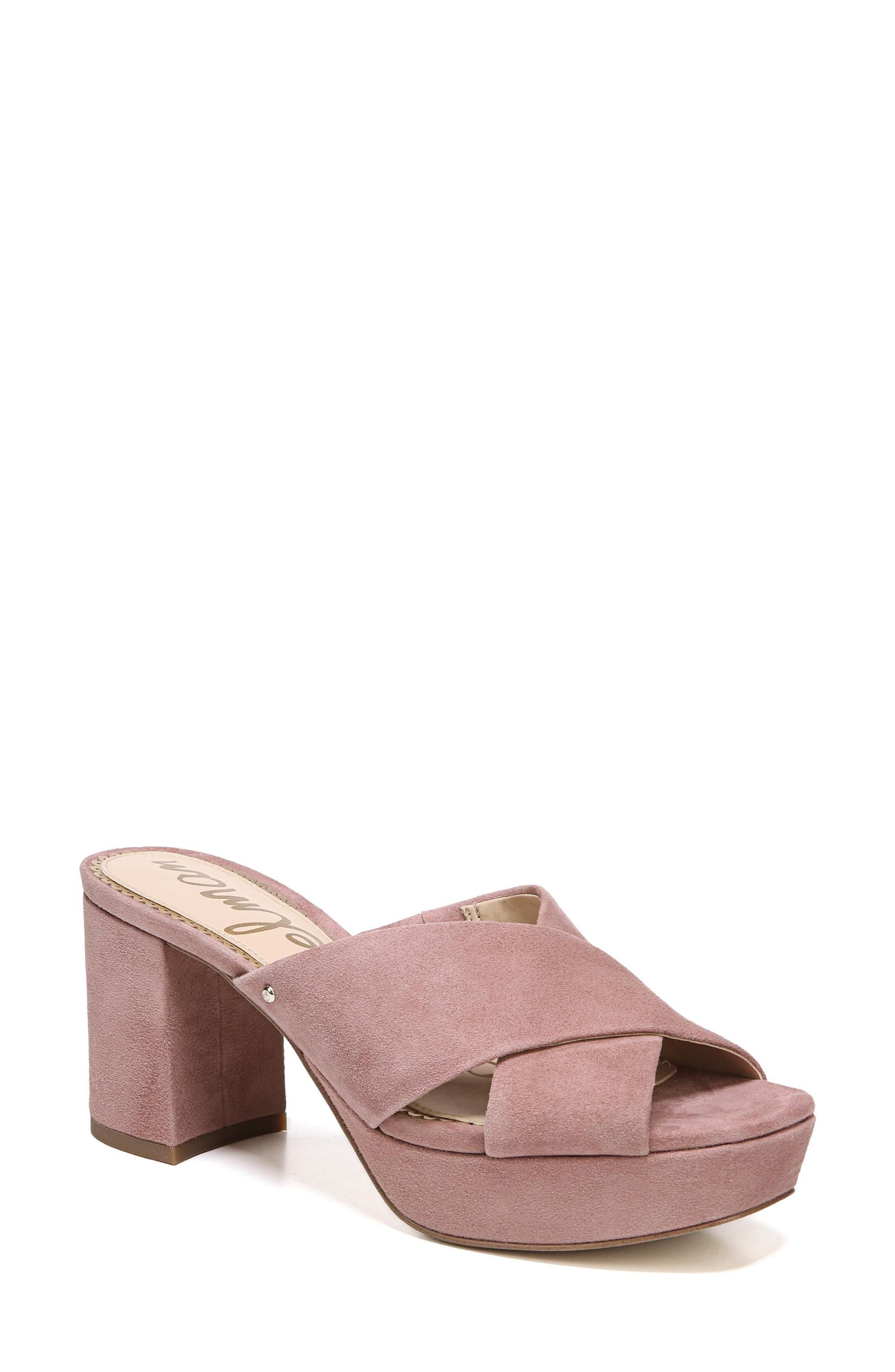 Jayne Sandal,                             Main thumbnail 1, color,                             Dusty Rose Suede