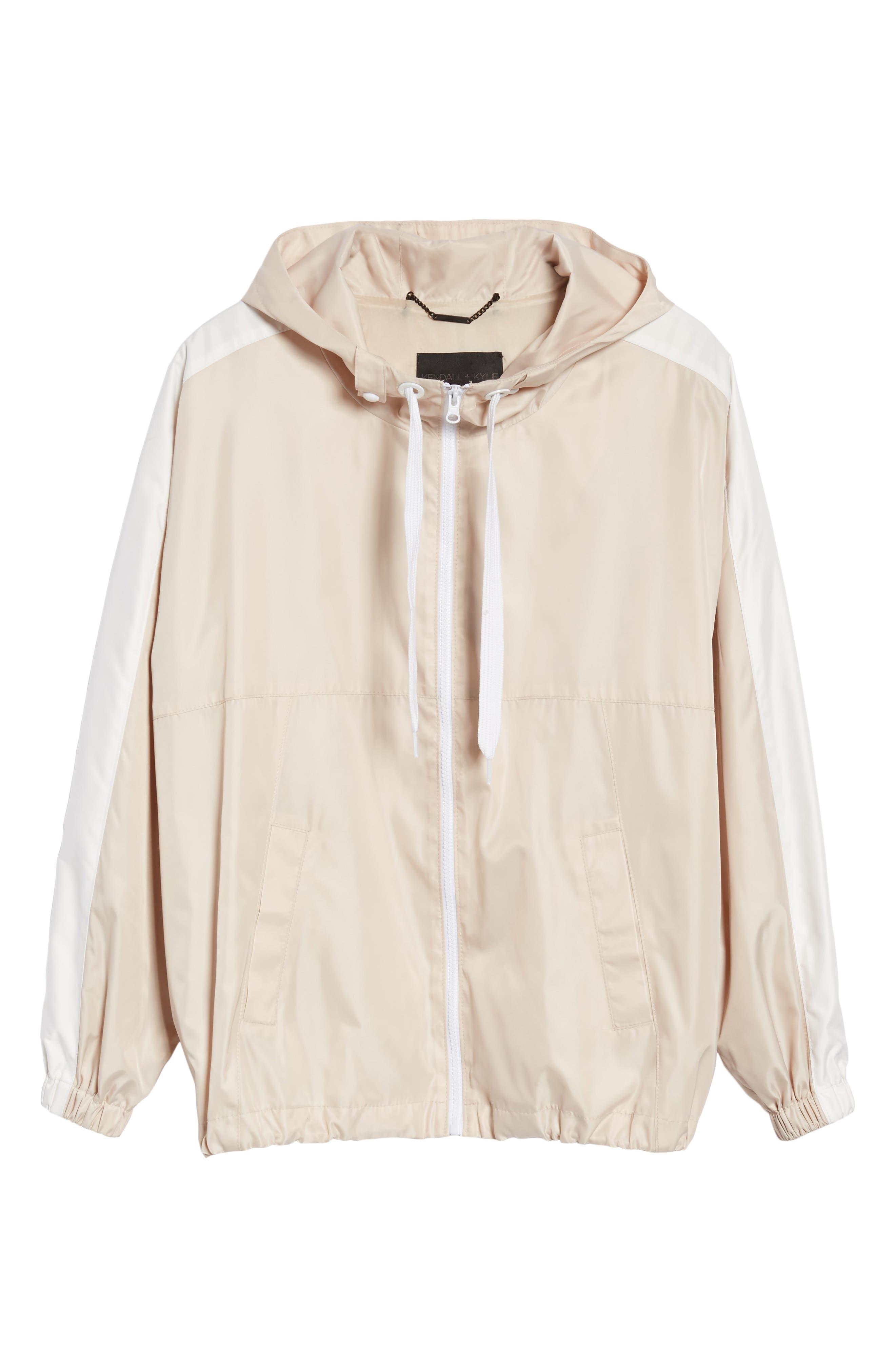 Stripe Hooded Jacket,                             Alternate thumbnail 6, color,                             Blush