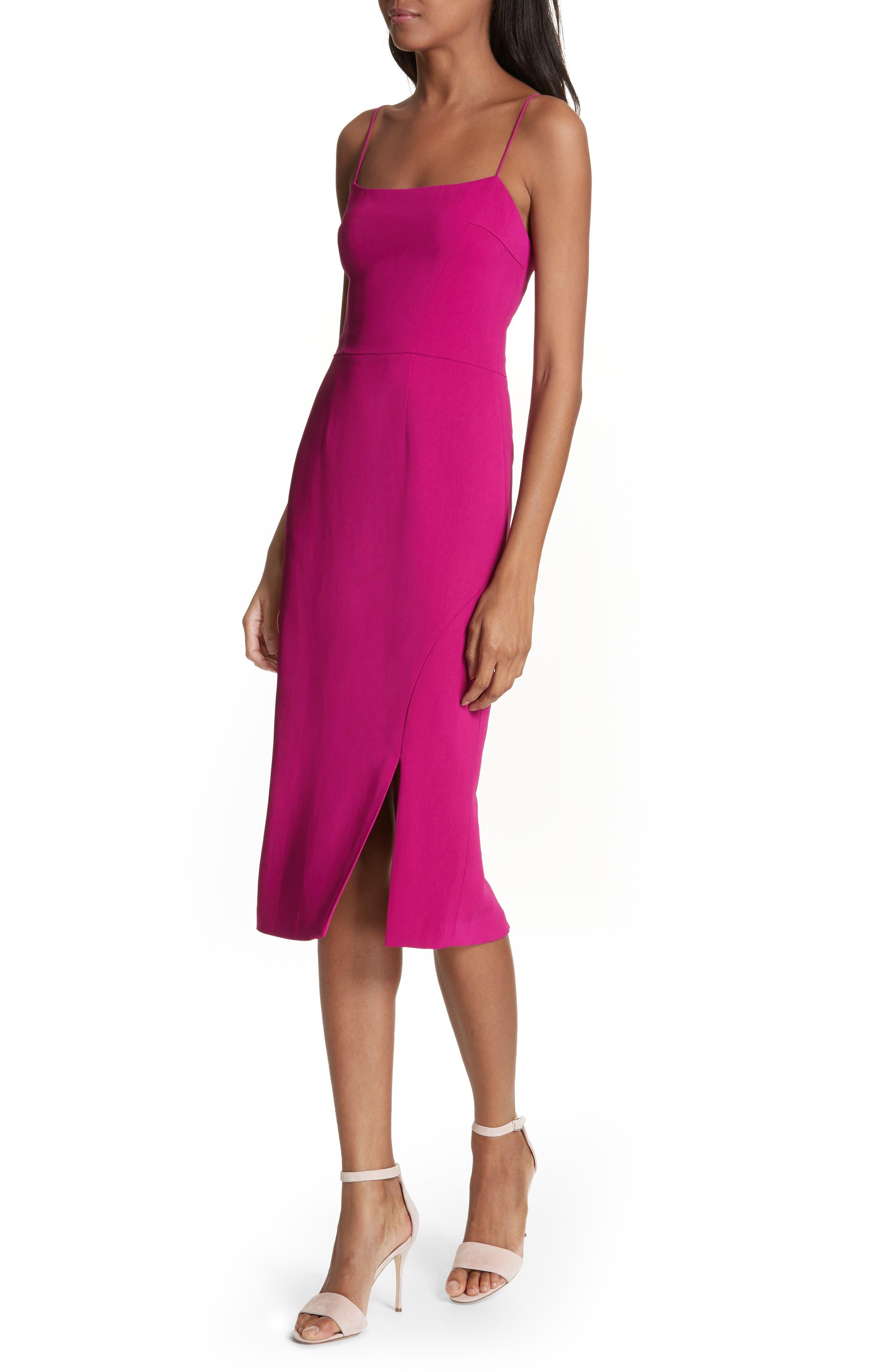 Slip Sheath Dress,                             Alternate thumbnail 4, color,                             Cyclamen
