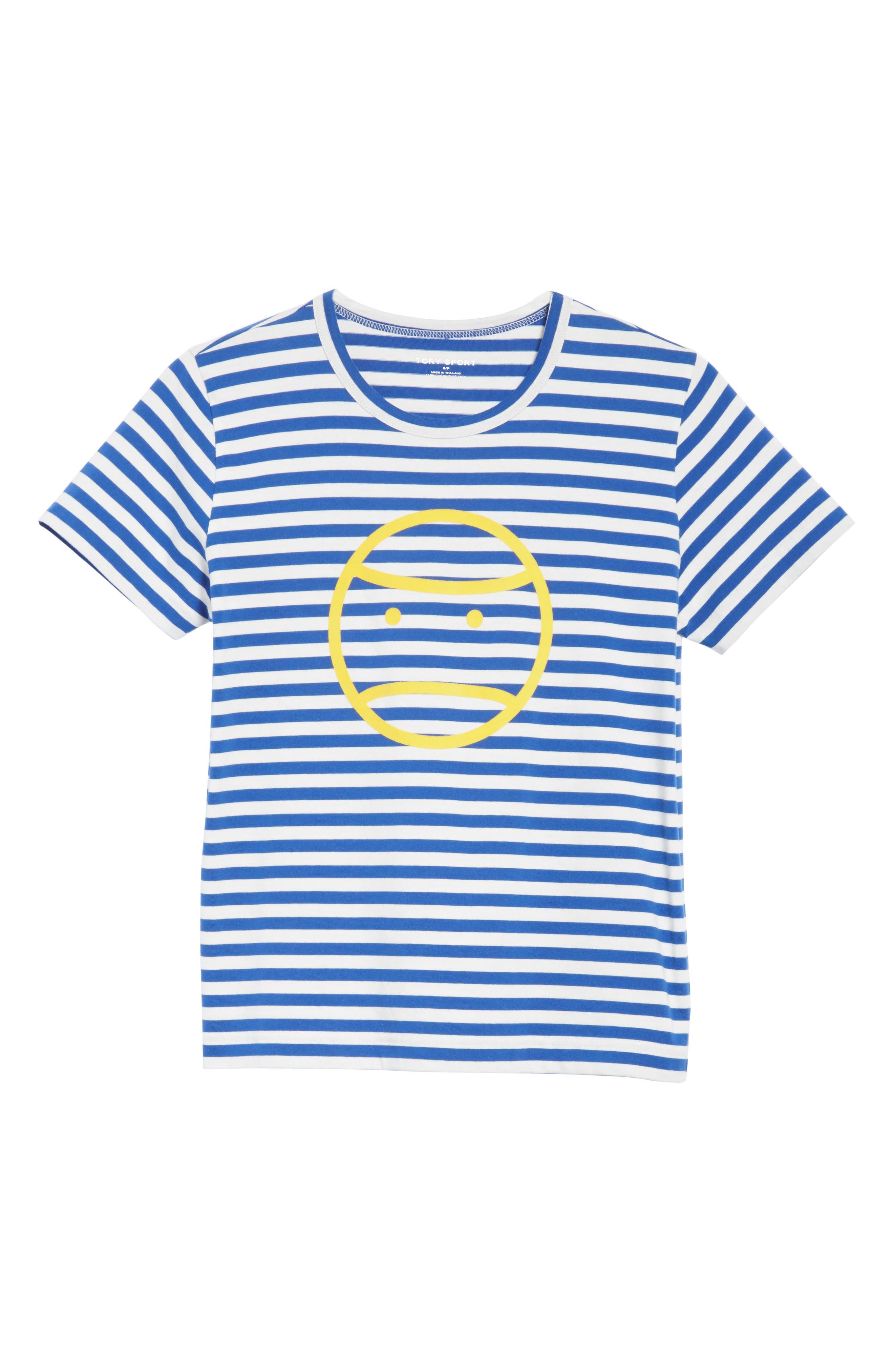 Little Grumps Stripe Tee,                             Alternate thumbnail 6, color,                             Slalom Blue Classic Stripe