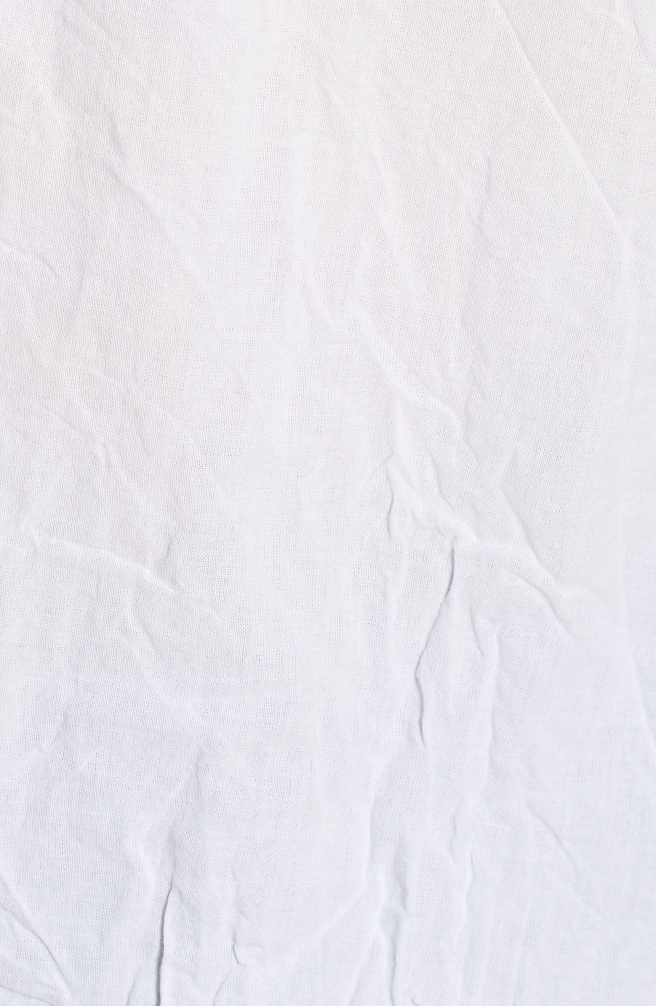 Oversize Button Front Shirt,                             Alternate thumbnail 5, color,                             White