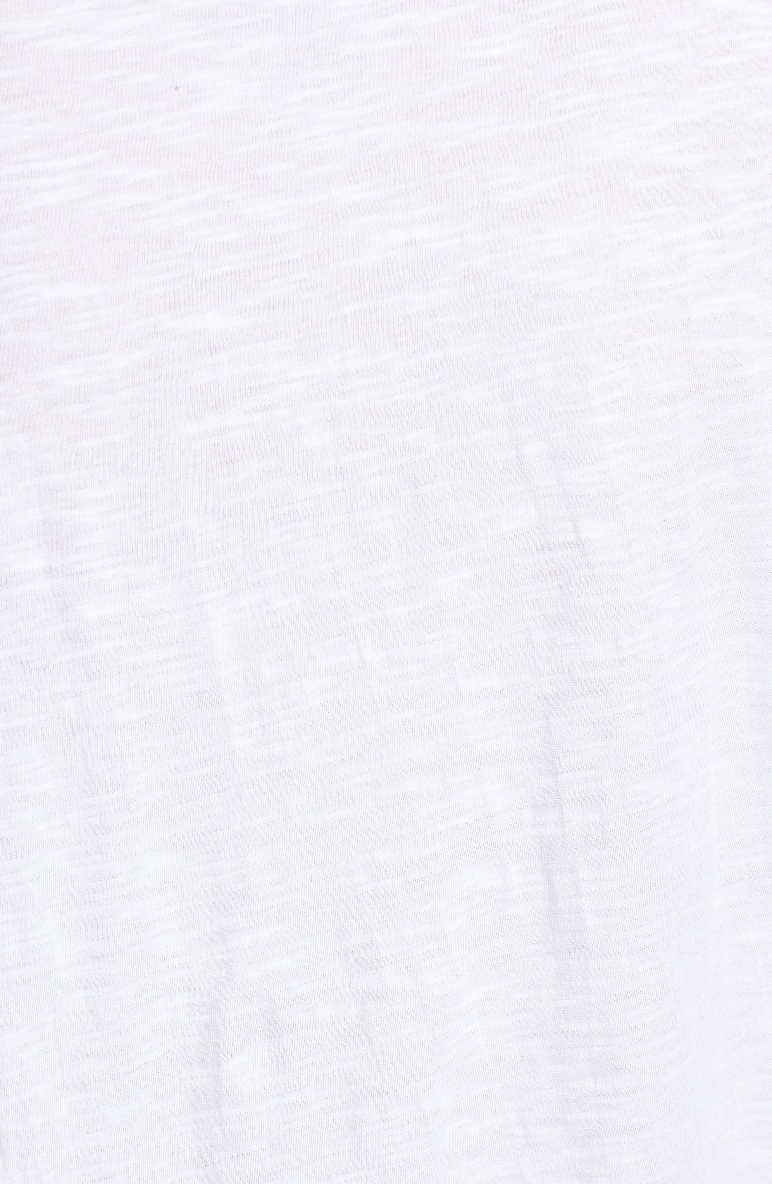 Flounce Short Sleeve Tee,                             Alternate thumbnail 5, color,                             White