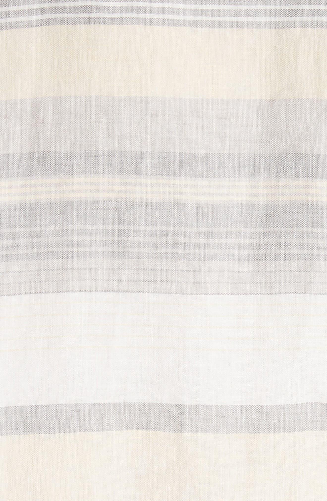 Lydia Stripe Linen Dress,                             Alternate thumbnail 6, color,                             Chickpea Multi