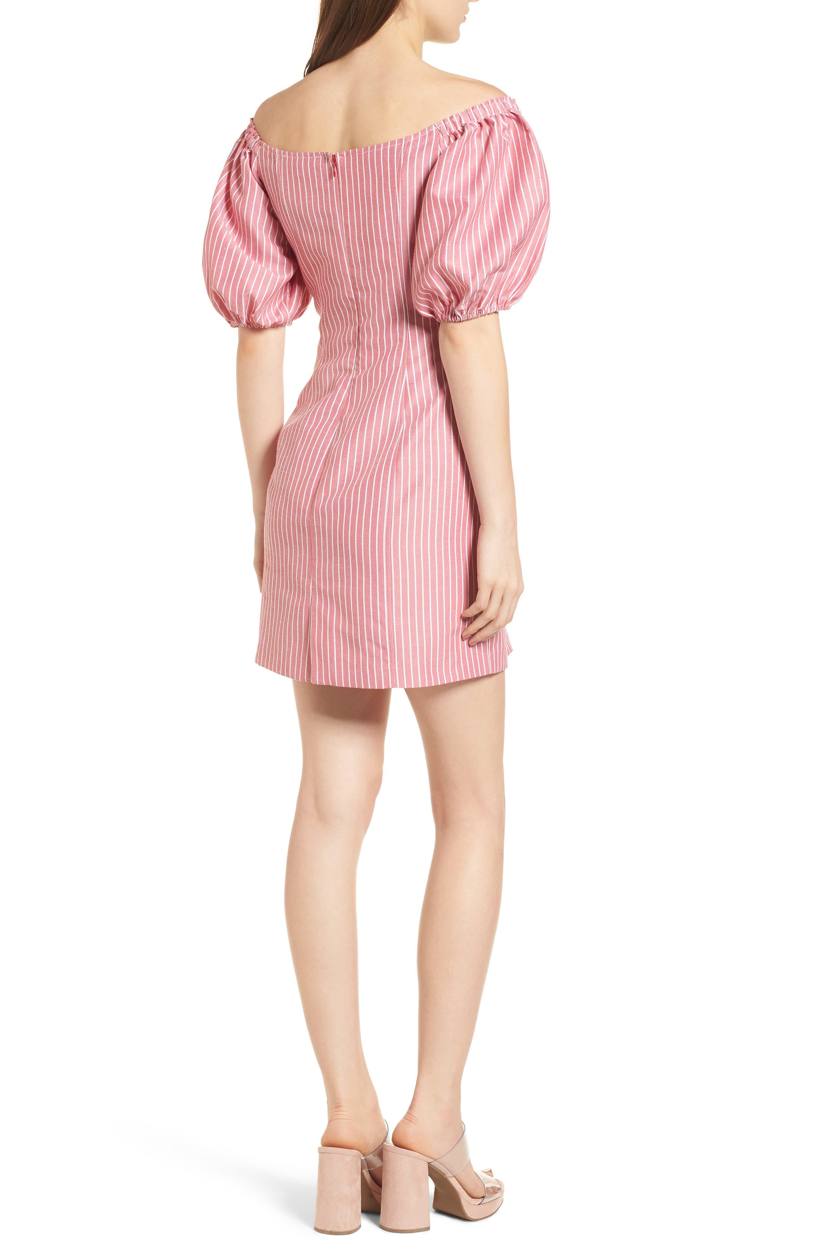 Frankie Lace-Up Minidress,                             Alternate thumbnail 2, color,                             Red Stripe