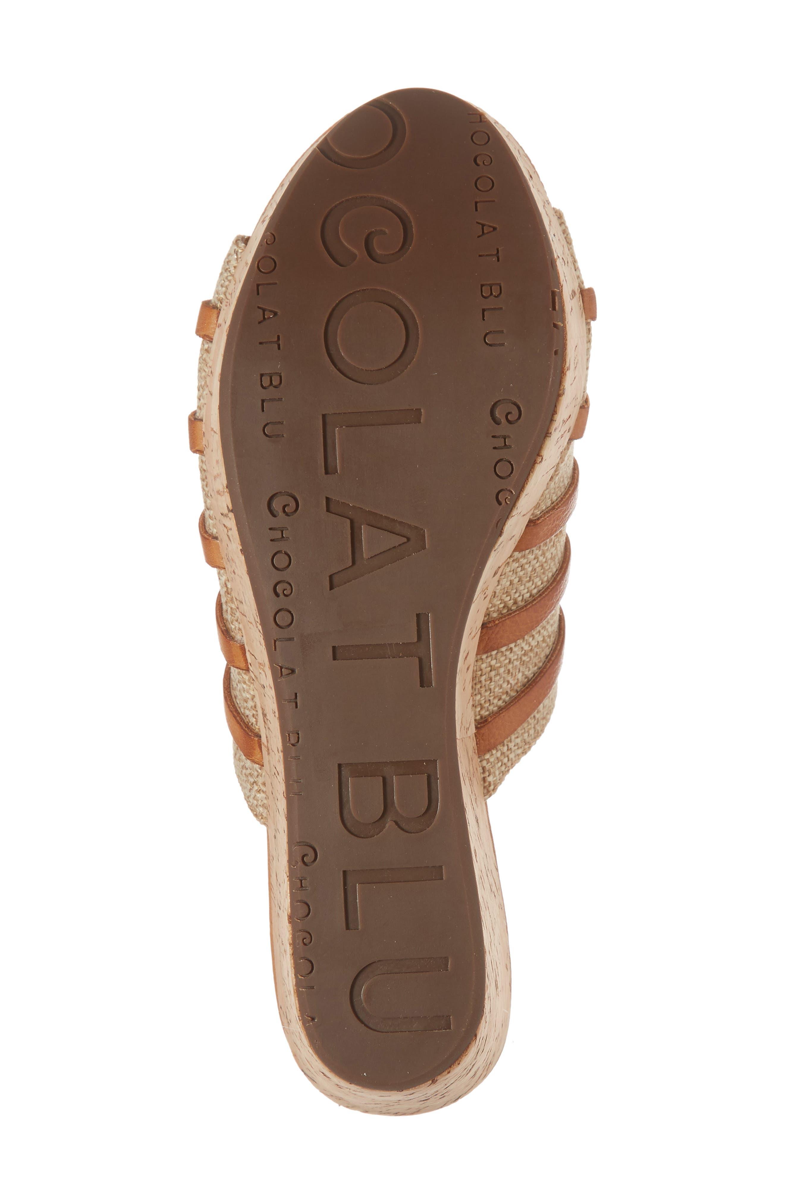 Wapi Wedge Sandal,                             Alternate thumbnail 6, color,                             Camel Leather