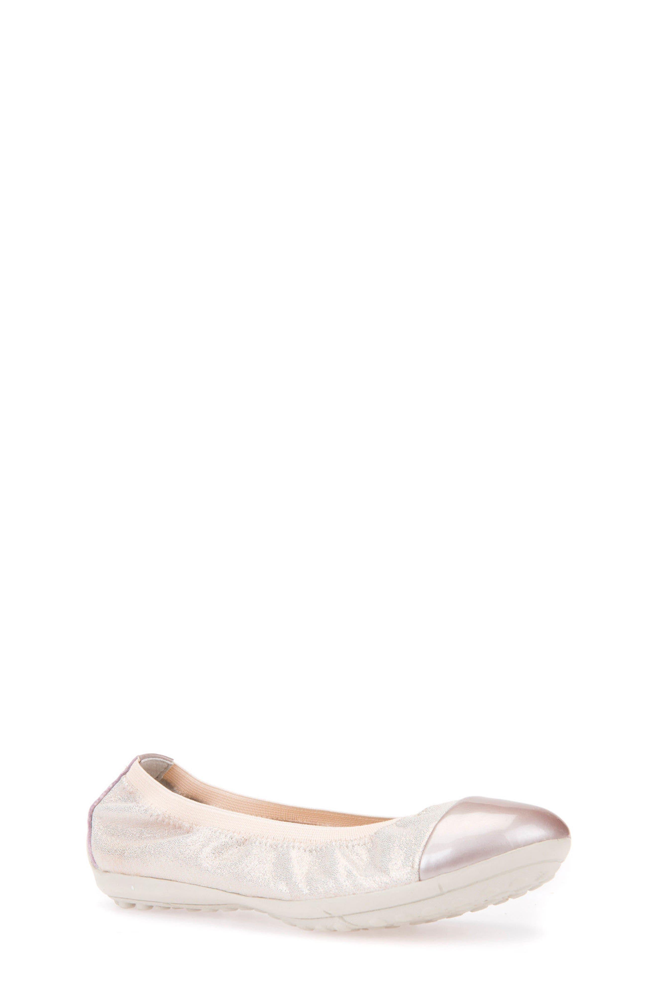 Alternate Image 1 Selected - Geox Piuma Cap Toe Glitter Ballerina Flat