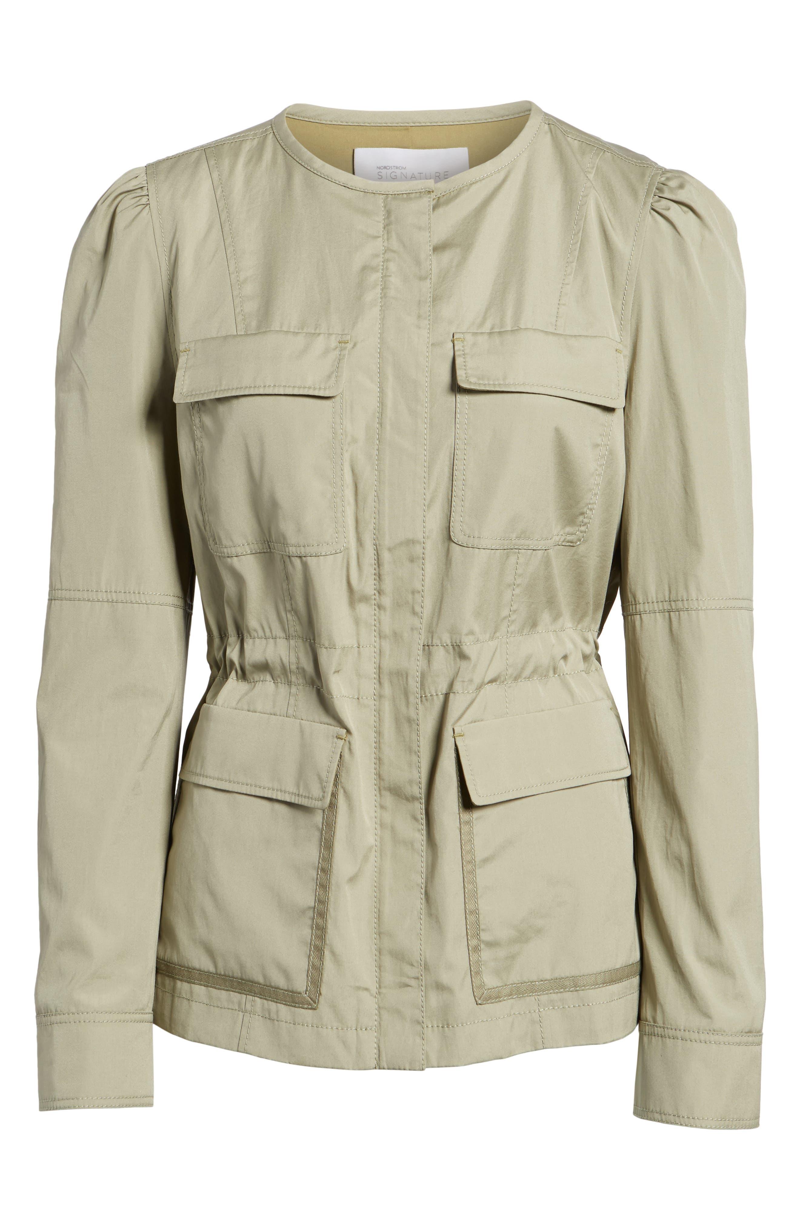 Utility Jacket,                             Alternate thumbnail 6, color,                             Olive Sage