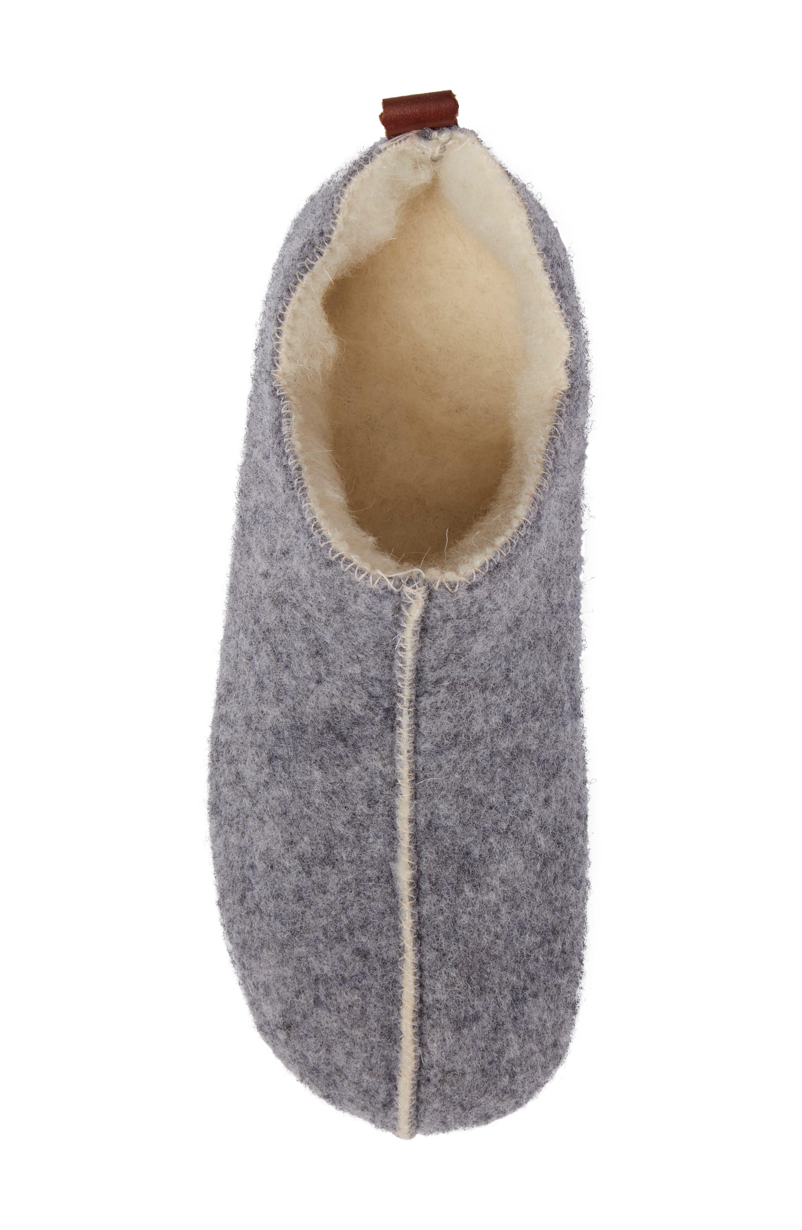 Lila Slipper,                             Alternate thumbnail 5, color,                             Grey Fabric