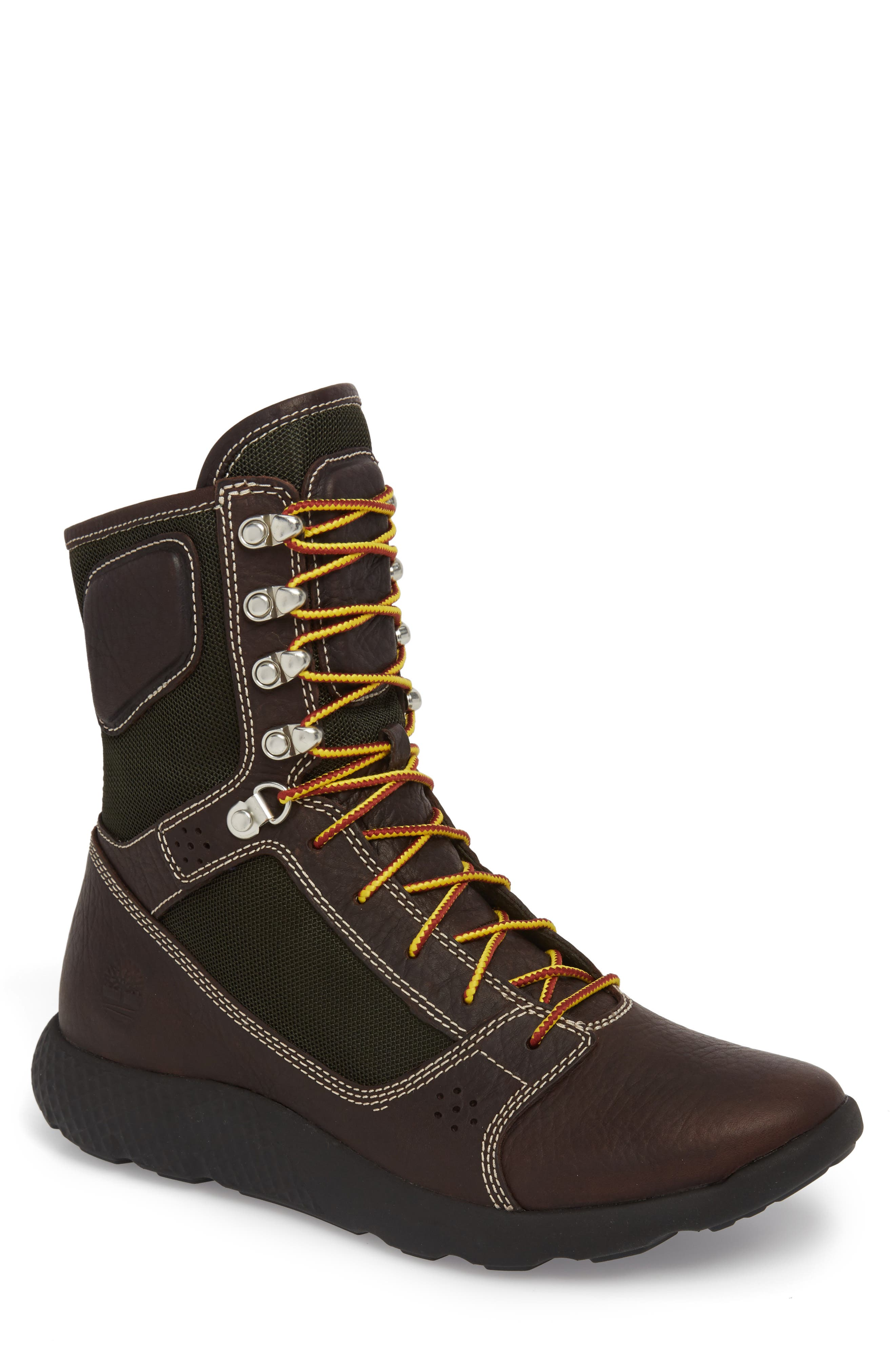 FlyRoam Tactical Boot,                             Main thumbnail 1, color,                             Hazel Brown/ Black Leather