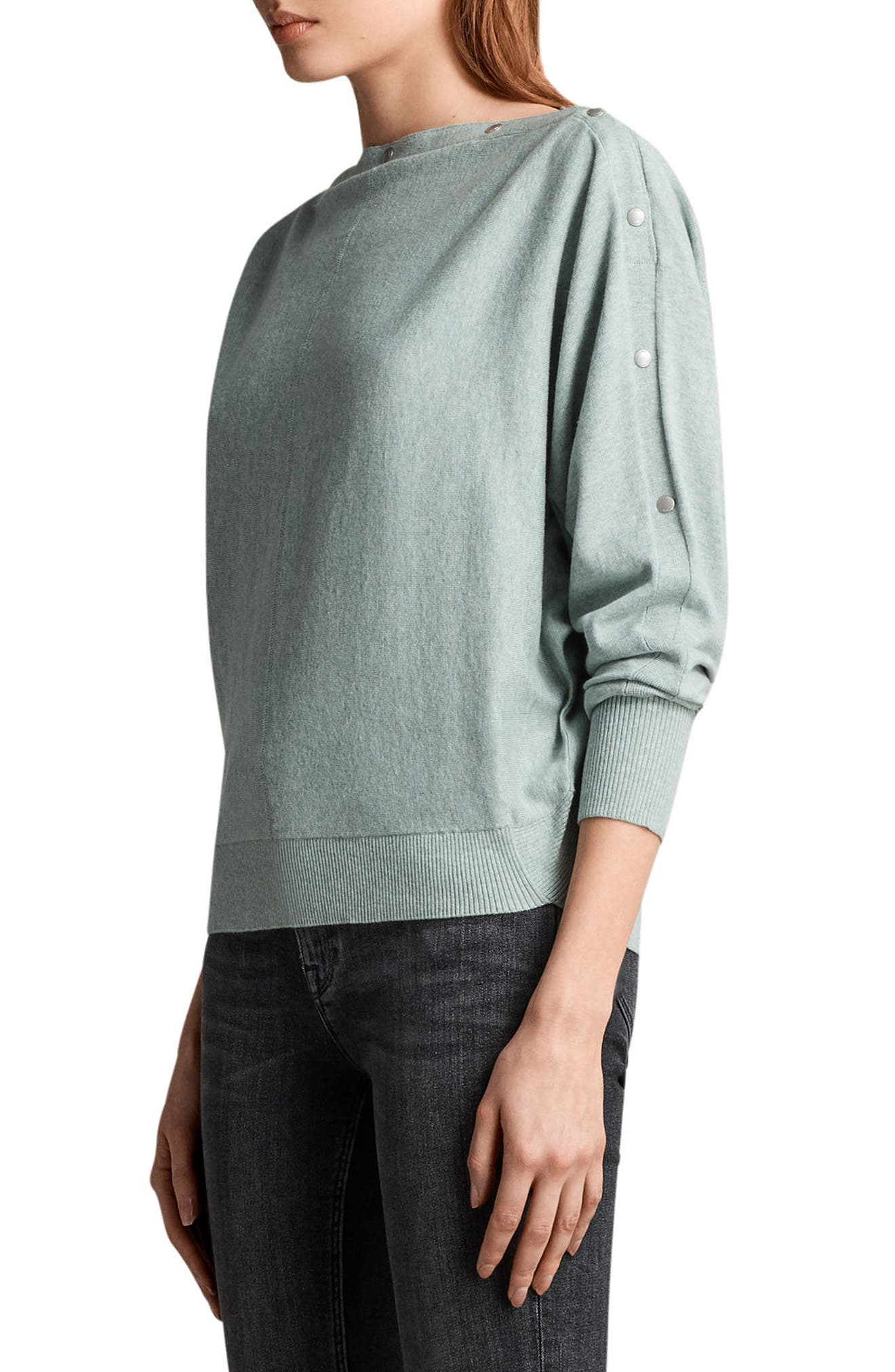Elle Sweater,                             Alternate thumbnail 3, color,                             Mint Green