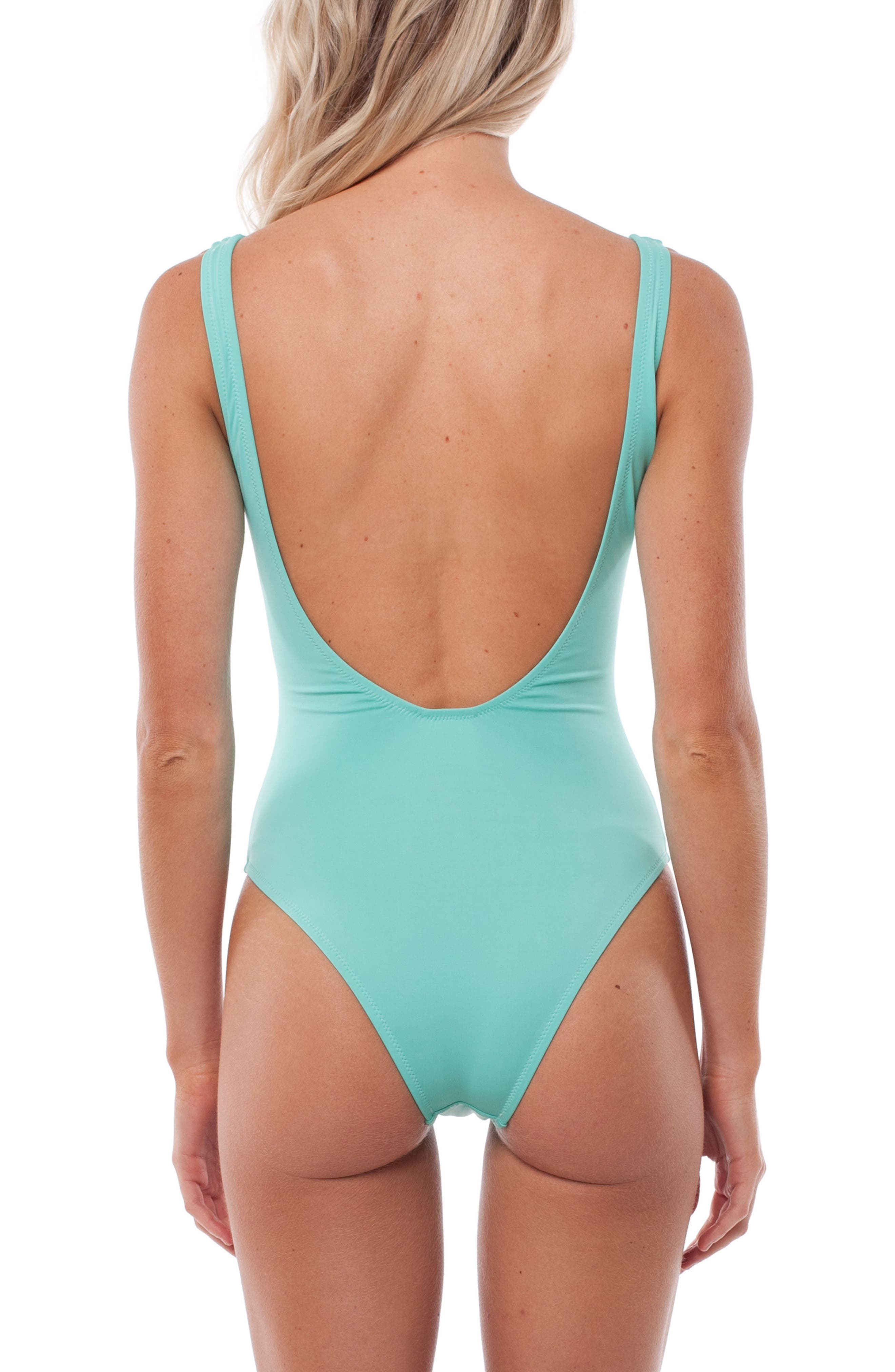Gidget One-Piece Swimsuit,                             Alternate thumbnail 2, color,                             Aruba