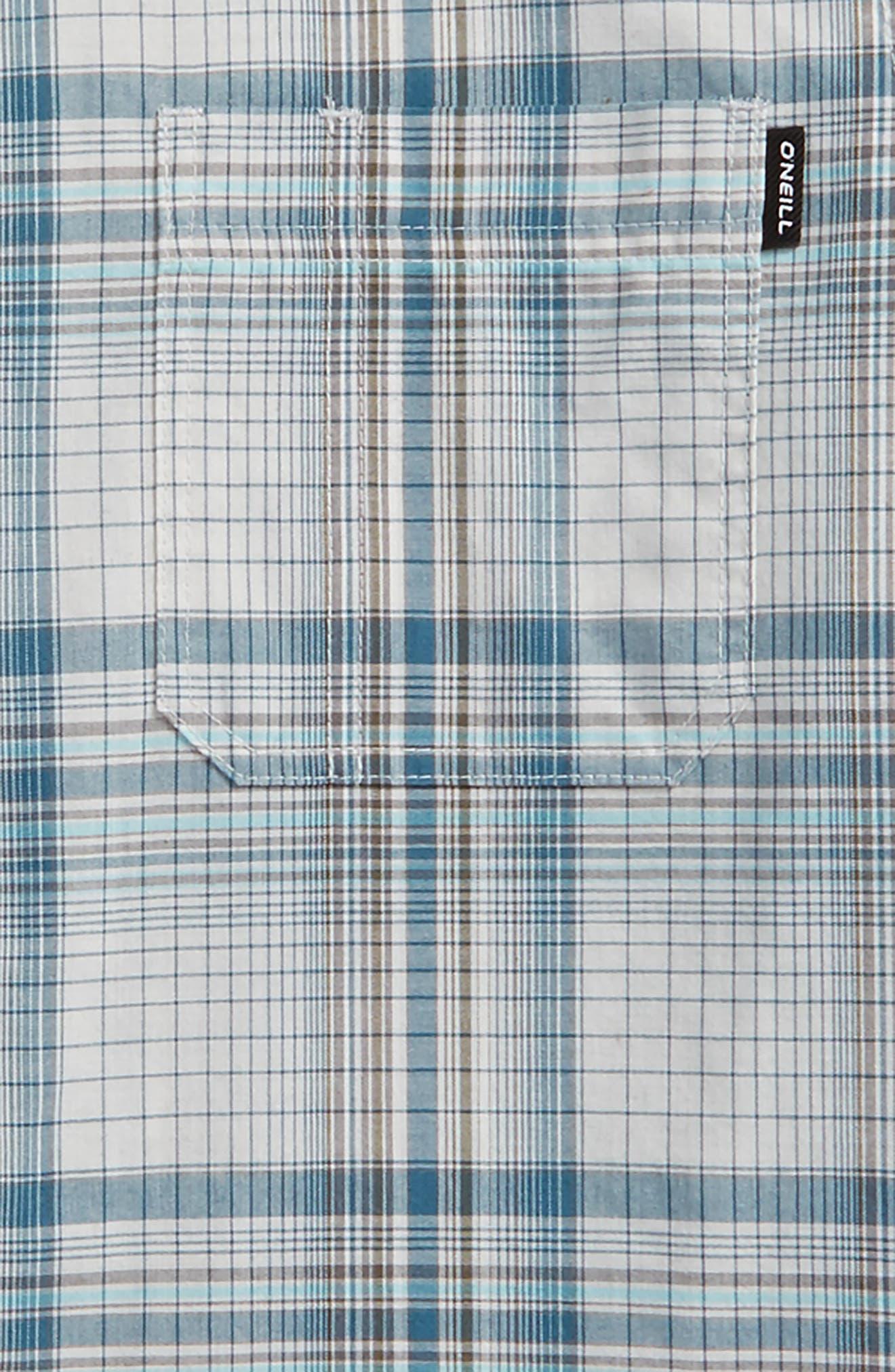 Sturghill Plaid Woven Shirt,                             Alternate thumbnail 2, color,                             Fog