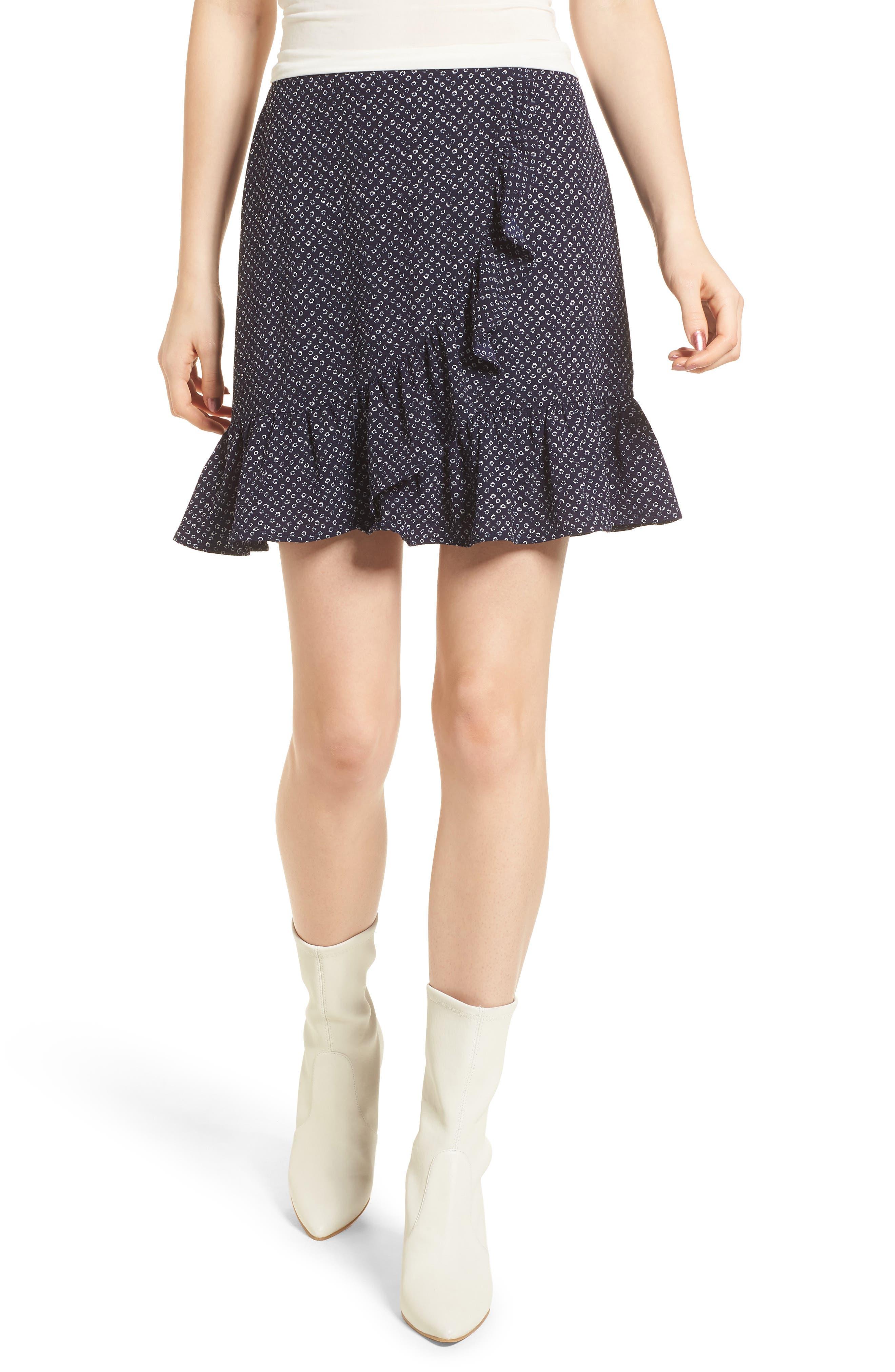 4SI3NNA Ruffle Miniskirt