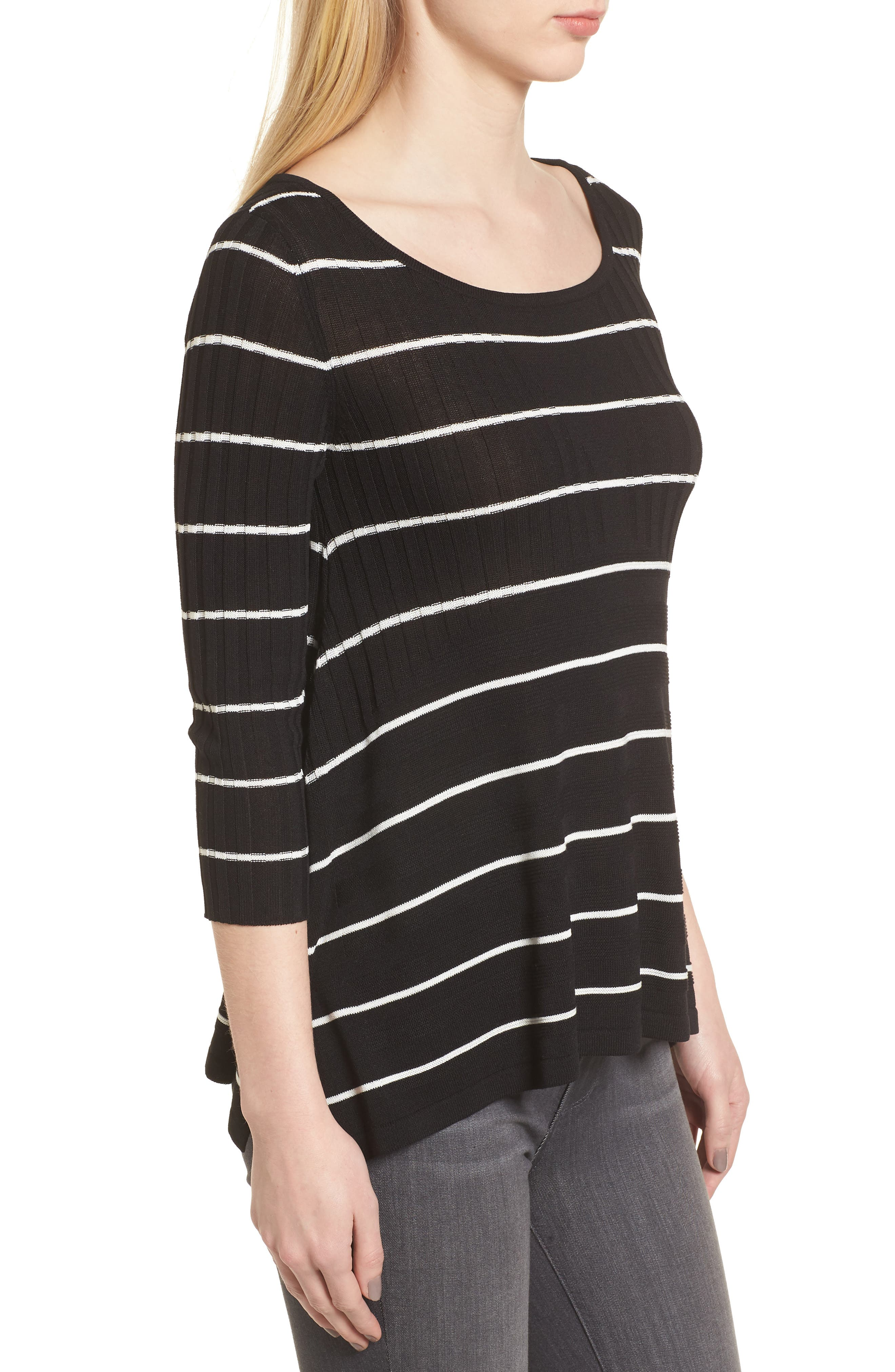 Sumo Stripe Sweater,                             Alternate thumbnail 3, color,                             Black