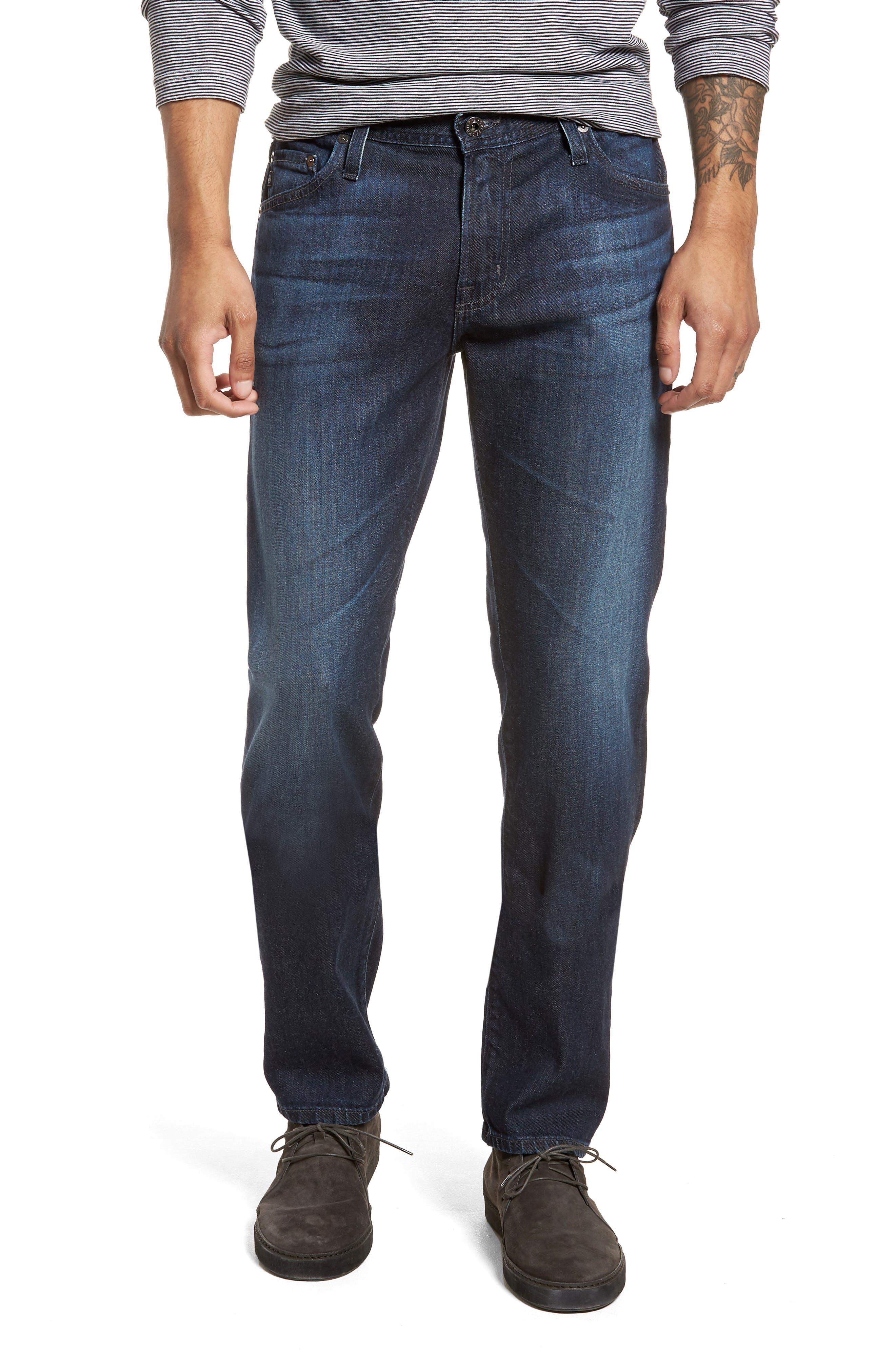 Graduate Slim Straight Leg Jeans,                             Main thumbnail 1, color,                             Stafford