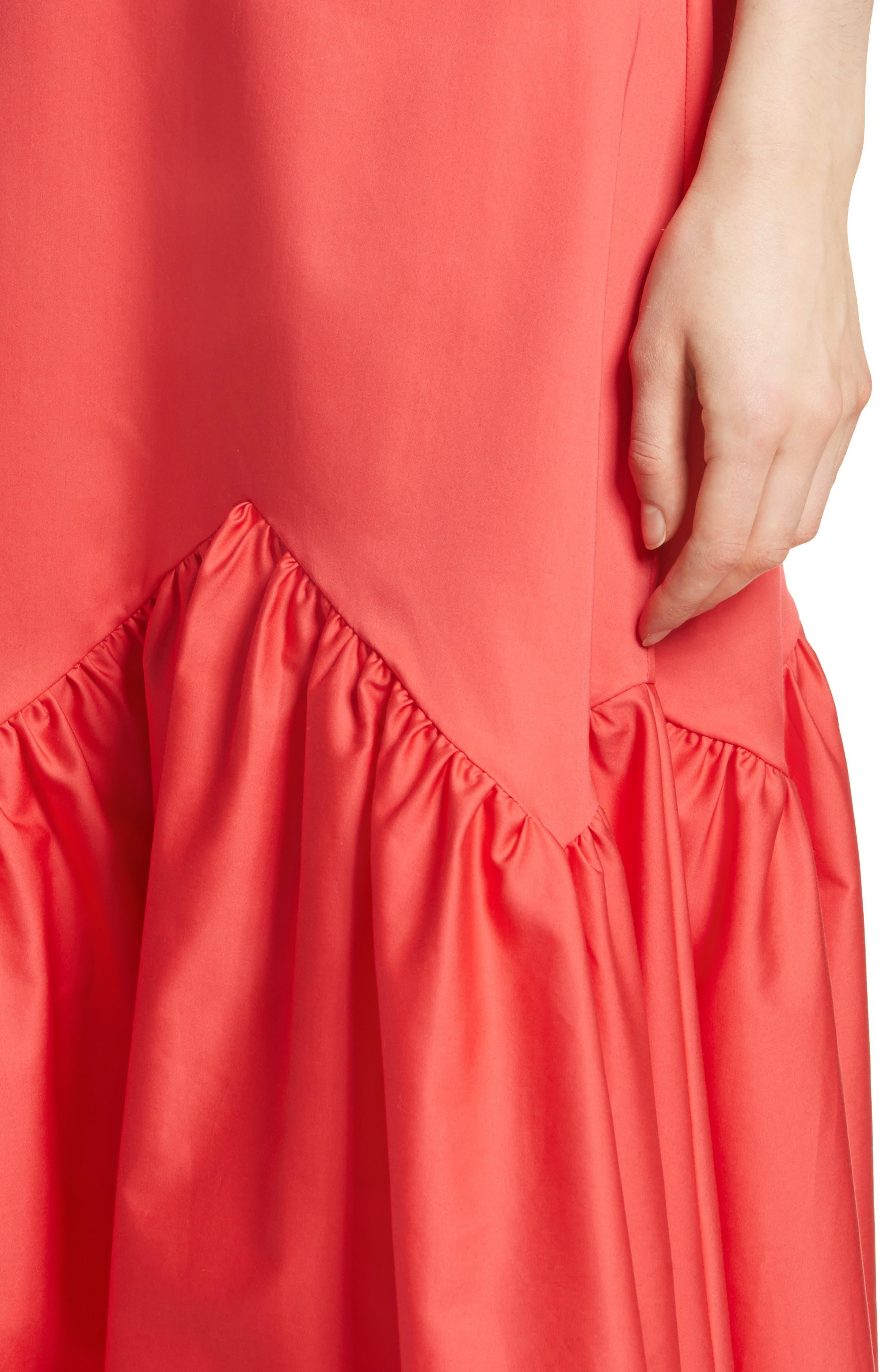 Prose & Poetry Tyra Midi Skirt,                             Alternate thumbnail 4, color,                             Watermelon