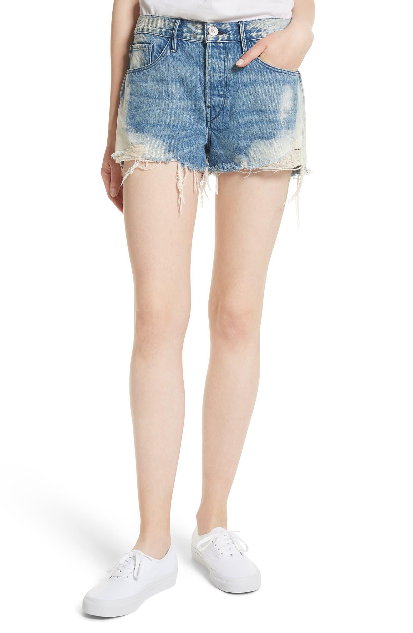 Alternate Image 1 Selected - 3x1 NYC W2 Mason Denim Shorts (Vandal)