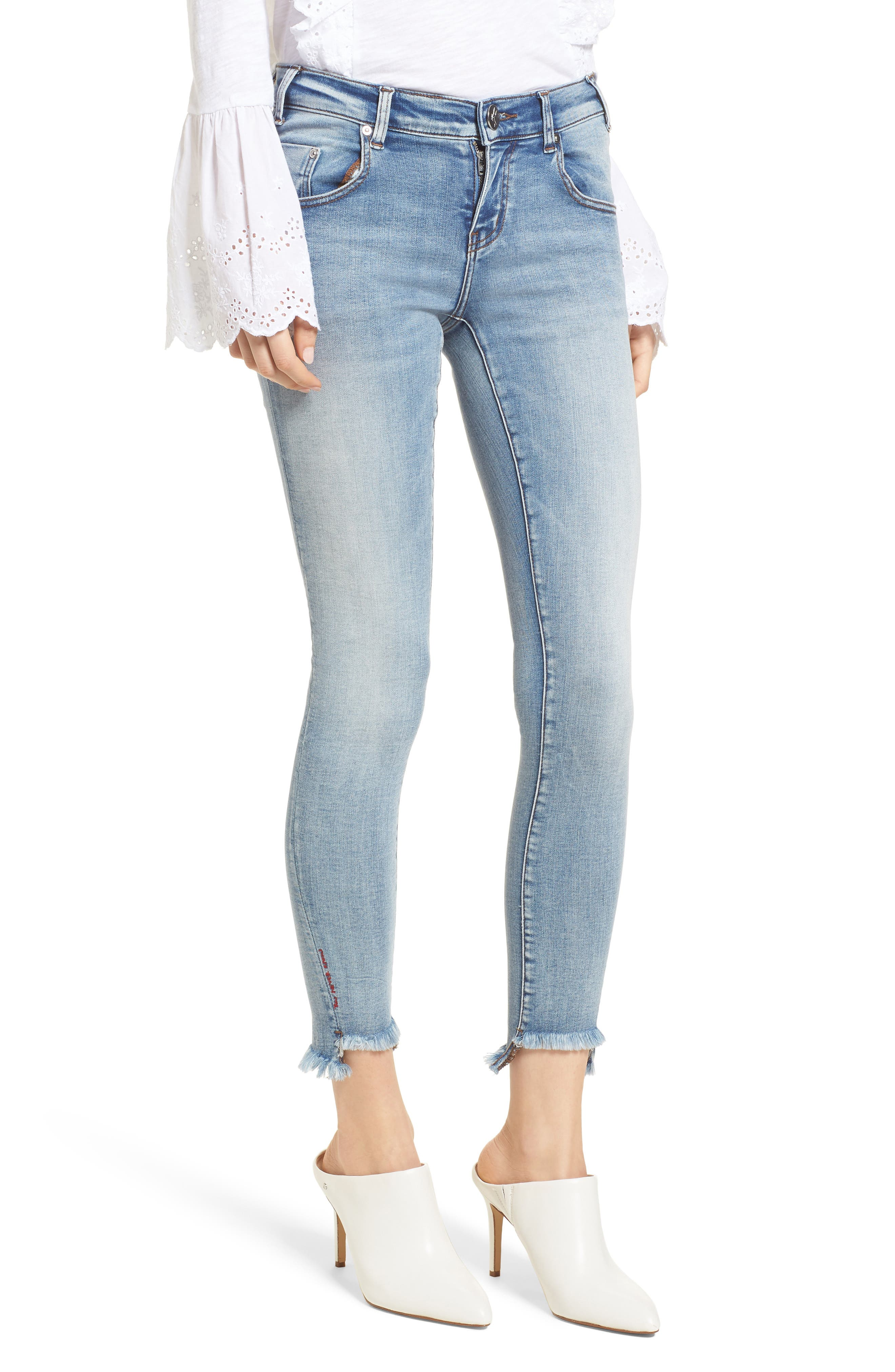 Freebirds Skinny Jeans,                             Main thumbnail 1, color,                             Cobaine