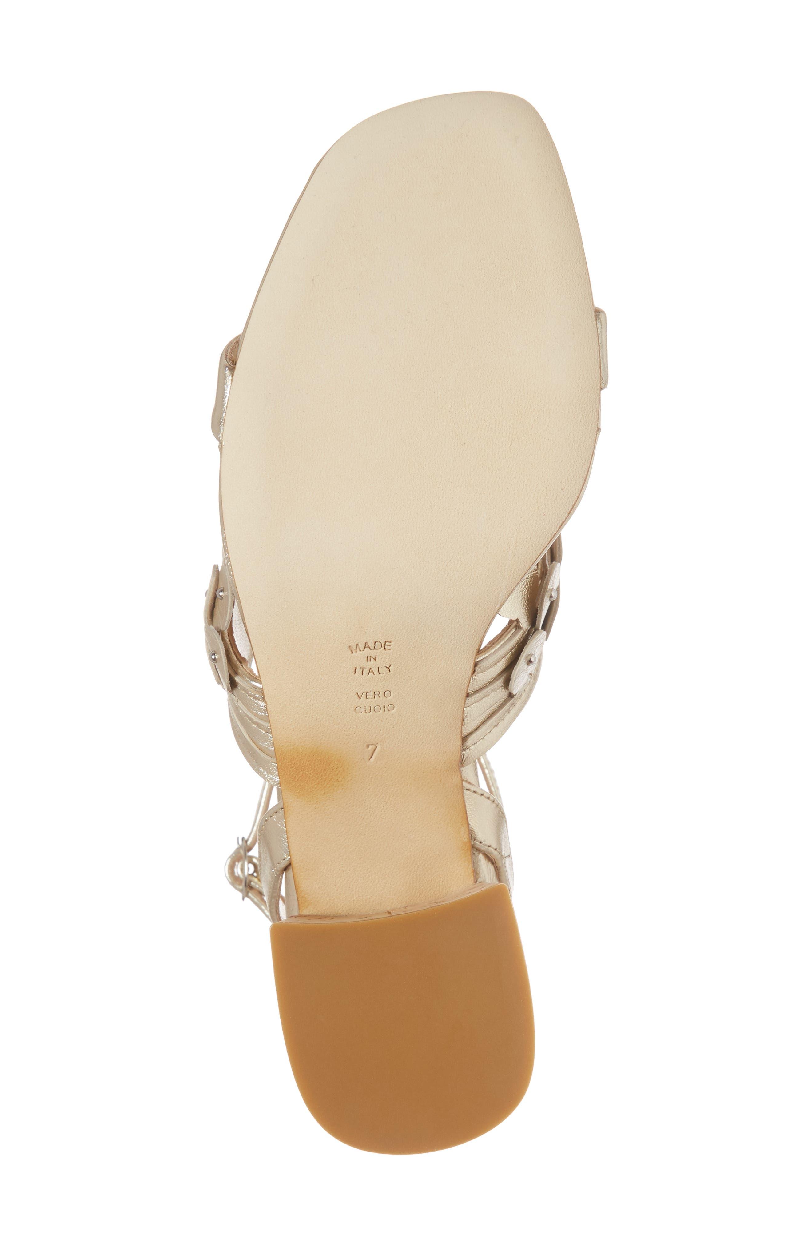 Butter Finley Studded Ankle Strap Sandal,                             Alternate thumbnail 6, color,                             Platino Napa