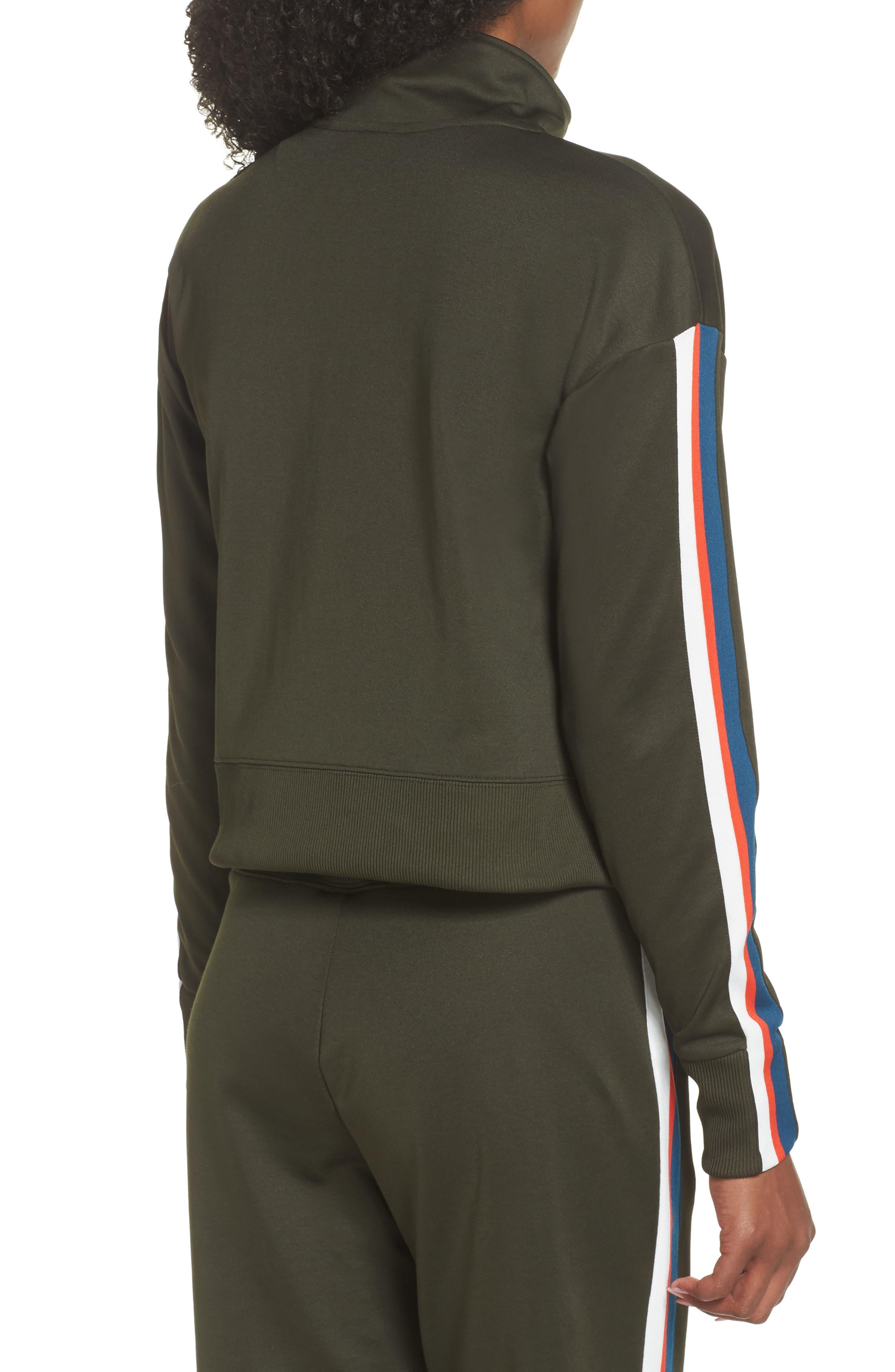 Sportswear Crop Jacket,                             Alternate thumbnail 2, color,                             Sequoia/ Sail