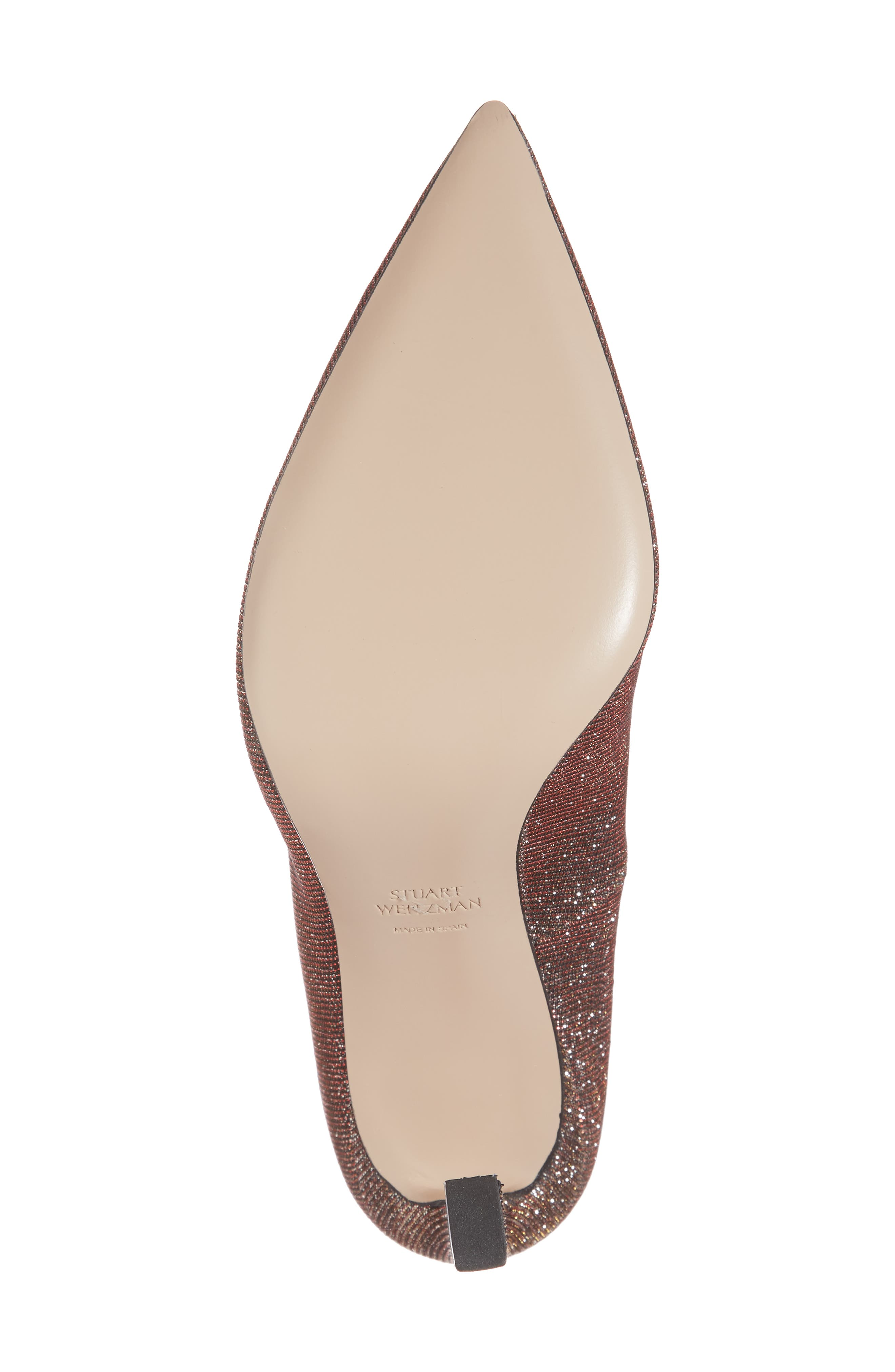 Chicster Pointy Toe Pump,                             Alternate thumbnail 6, color,                             Bronze Nighttime