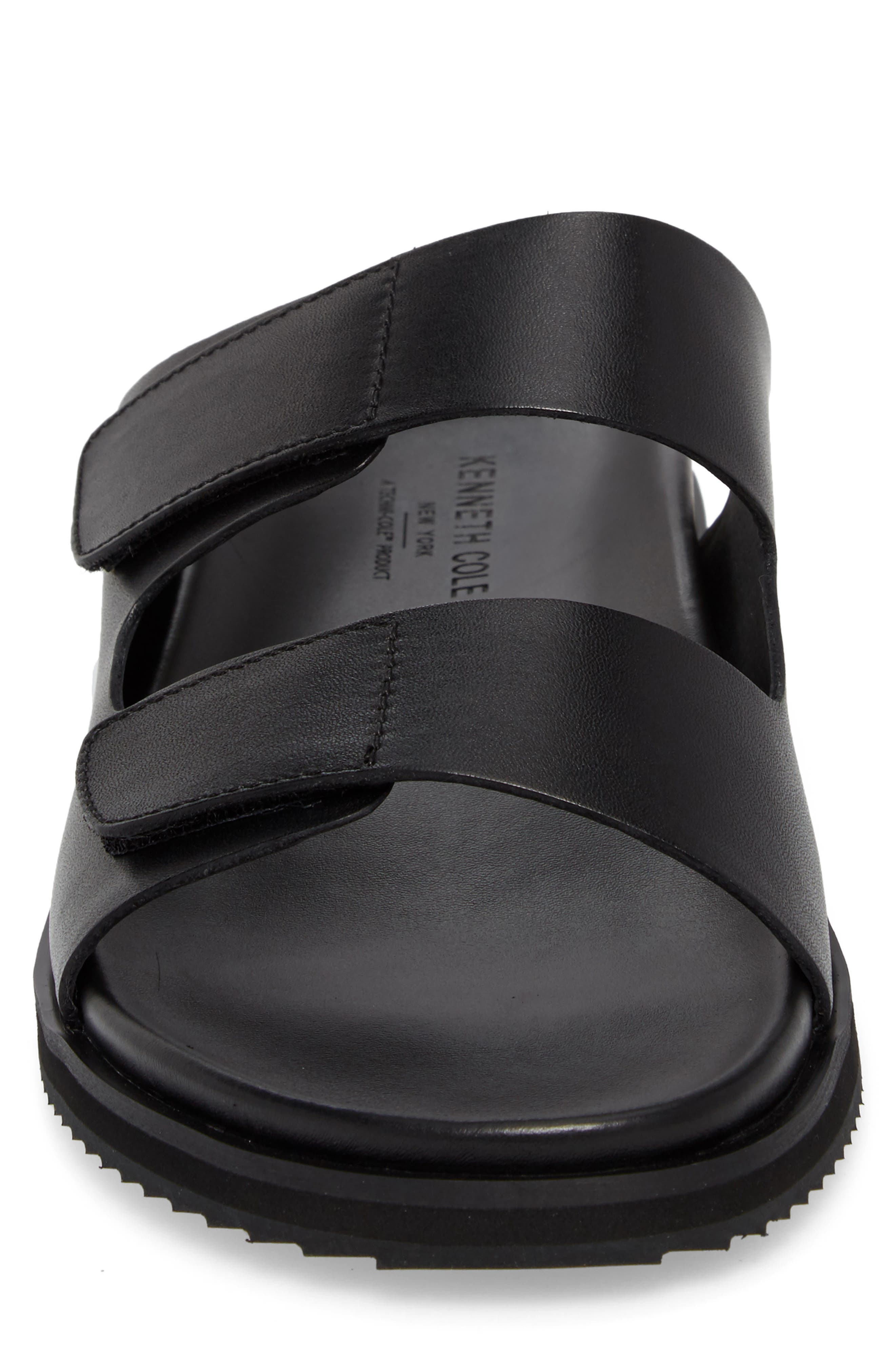 Story Slide Sandal,                             Alternate thumbnail 4, color,                             Black Leather