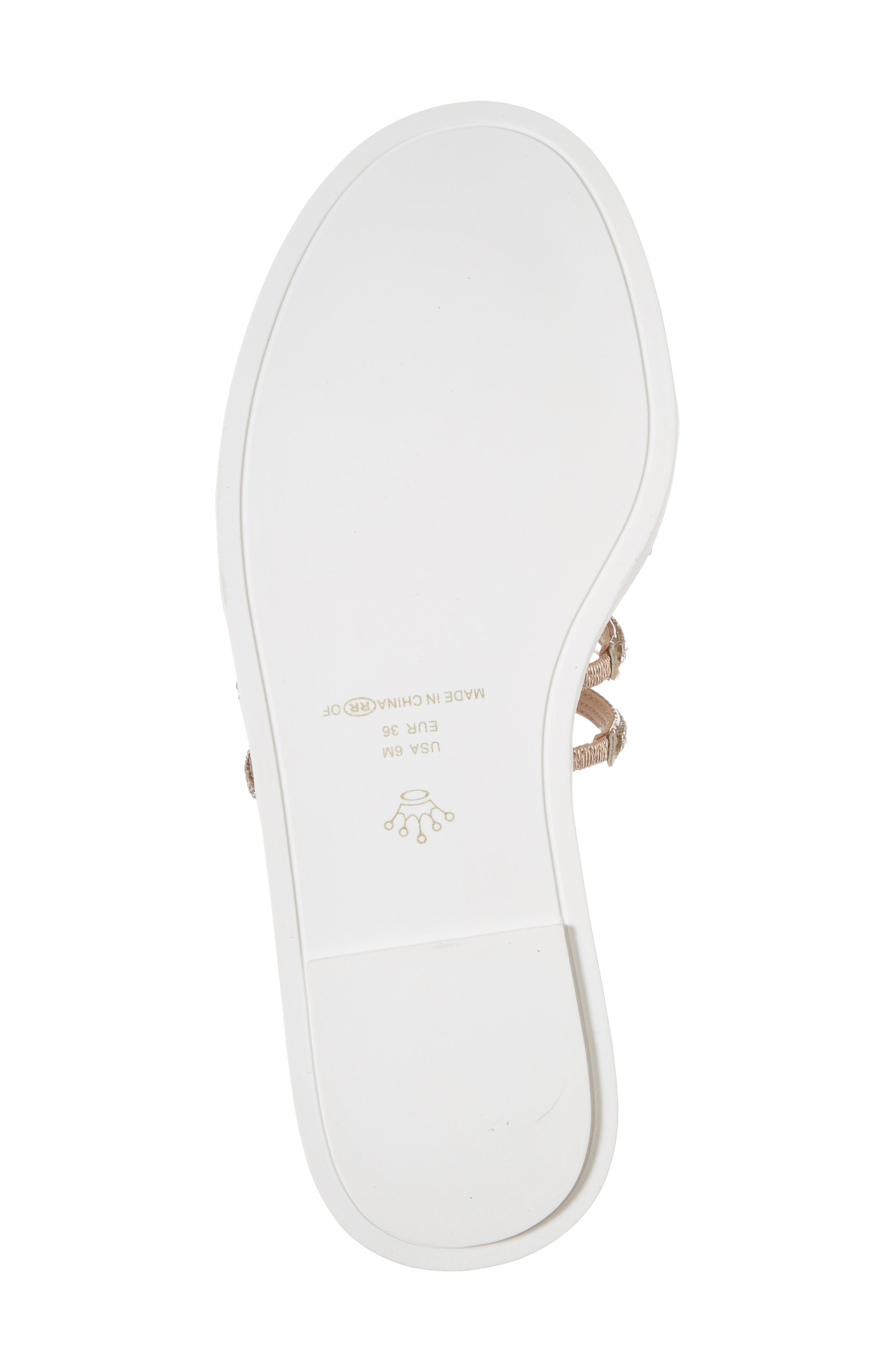 Sabrina Sandal,                             Alternate thumbnail 6, color,                             Rose Gold Fabric
