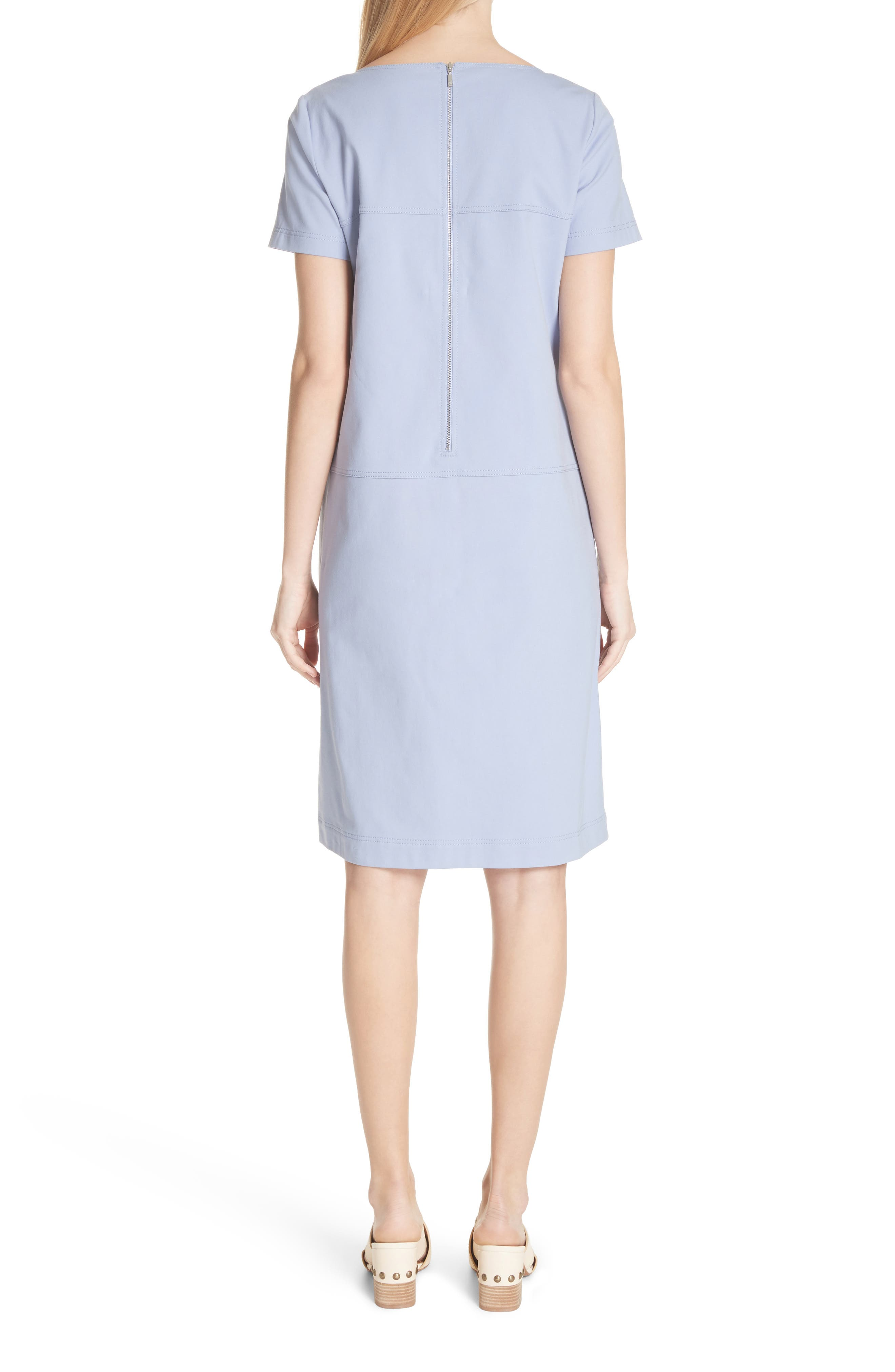 Farah Catalina Stretch Canvas Dress,                             Alternate thumbnail 2, color,                             Periwinkle