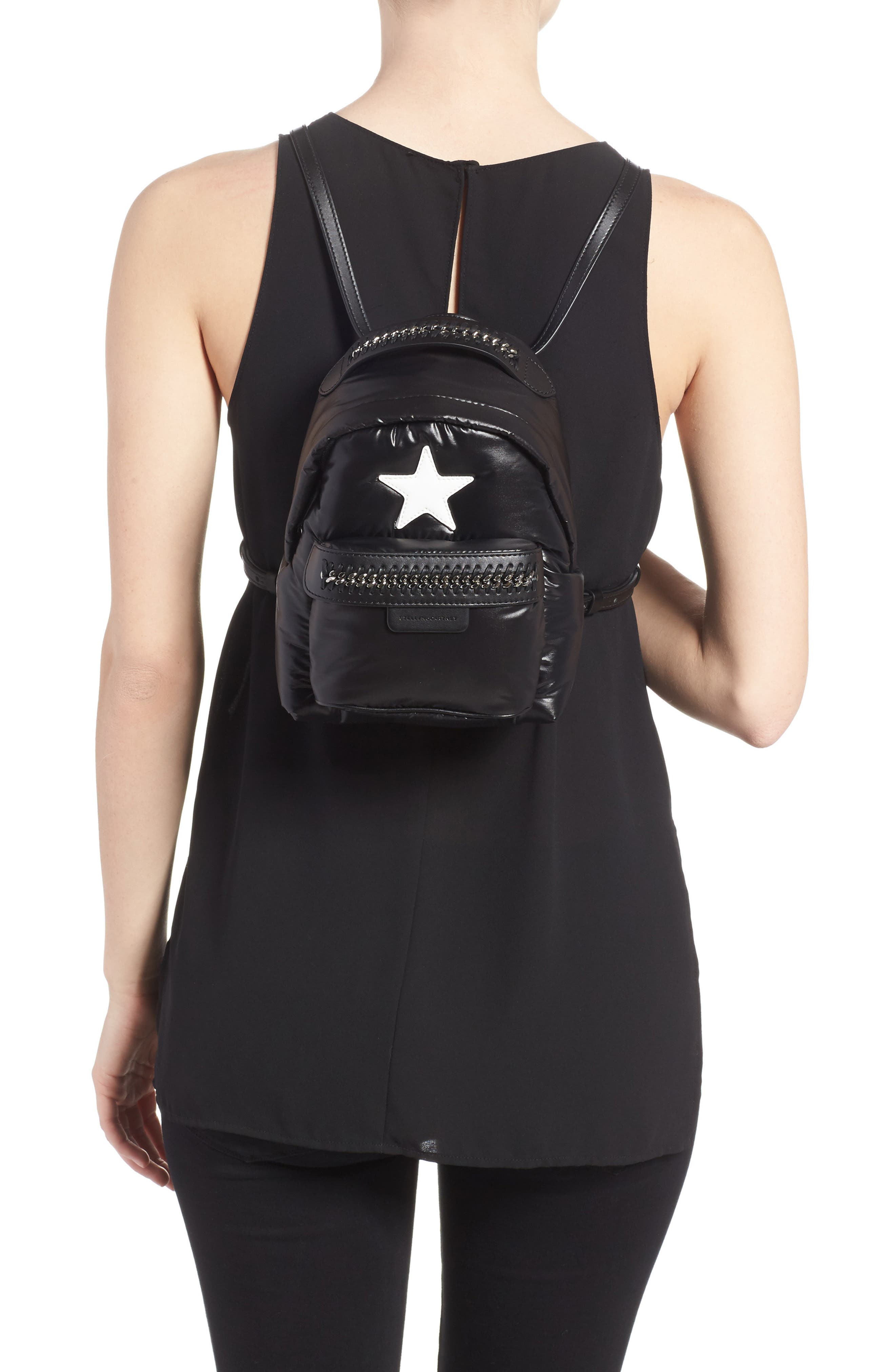 Alternate Image 2  - Stella McCartney Mini Falabella Go Star Backpack