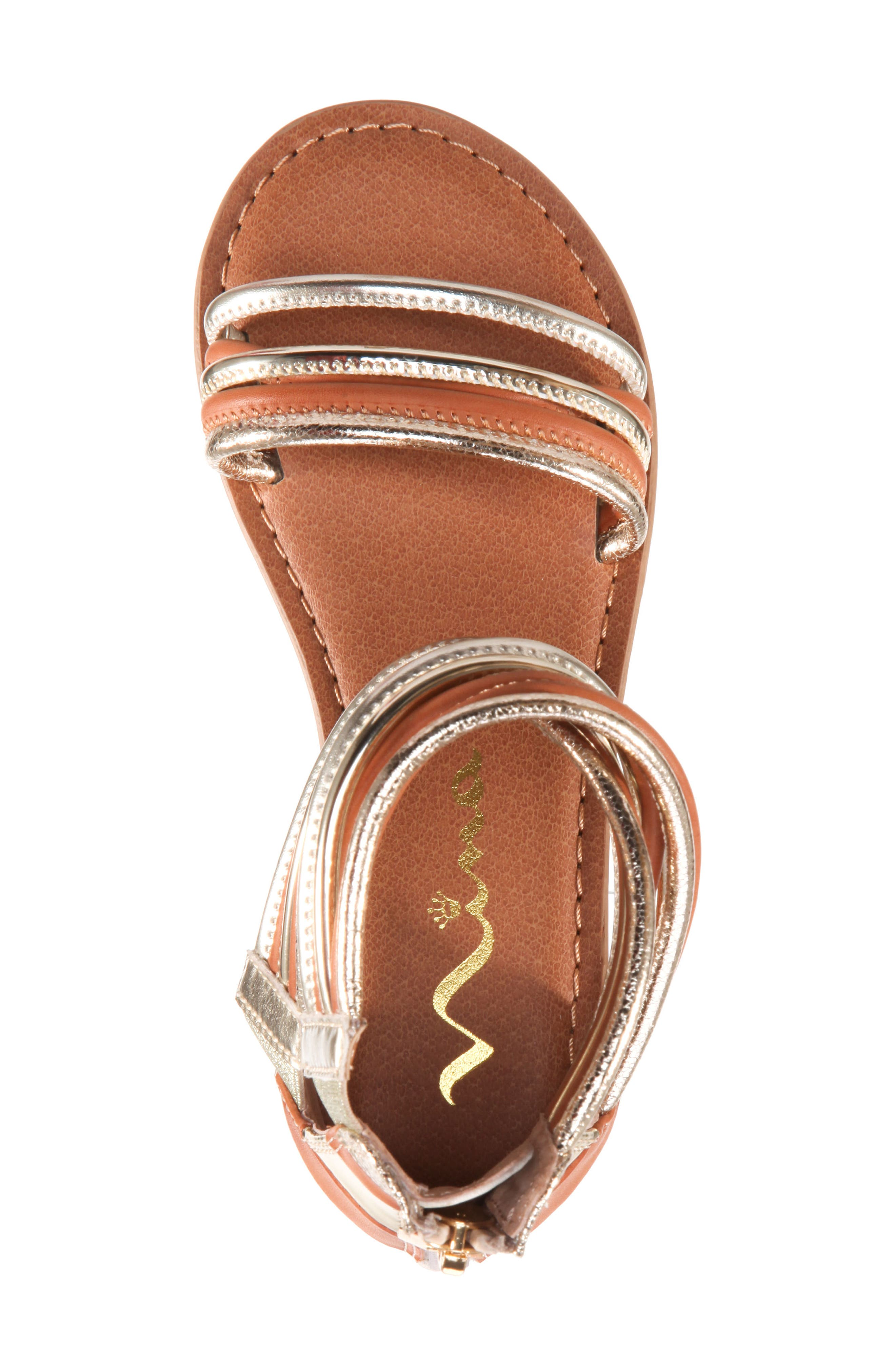 Roxsanne Multistrap Sandal,                             Alternate thumbnail 5, color,                             Platino Metallic