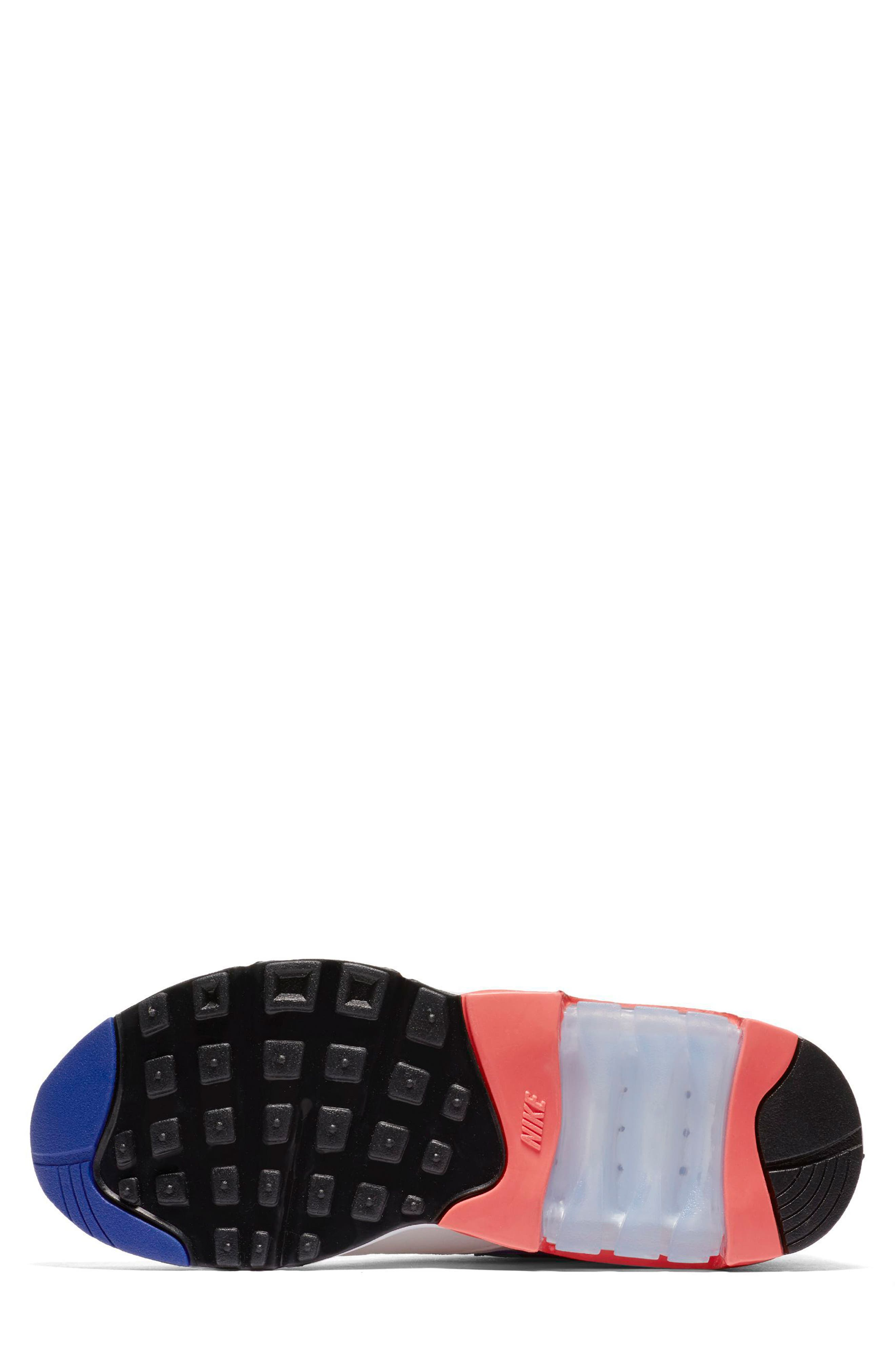 Air Max 180 Sneaker,                             Alternate thumbnail 5, color,                             White/ Ultramarine