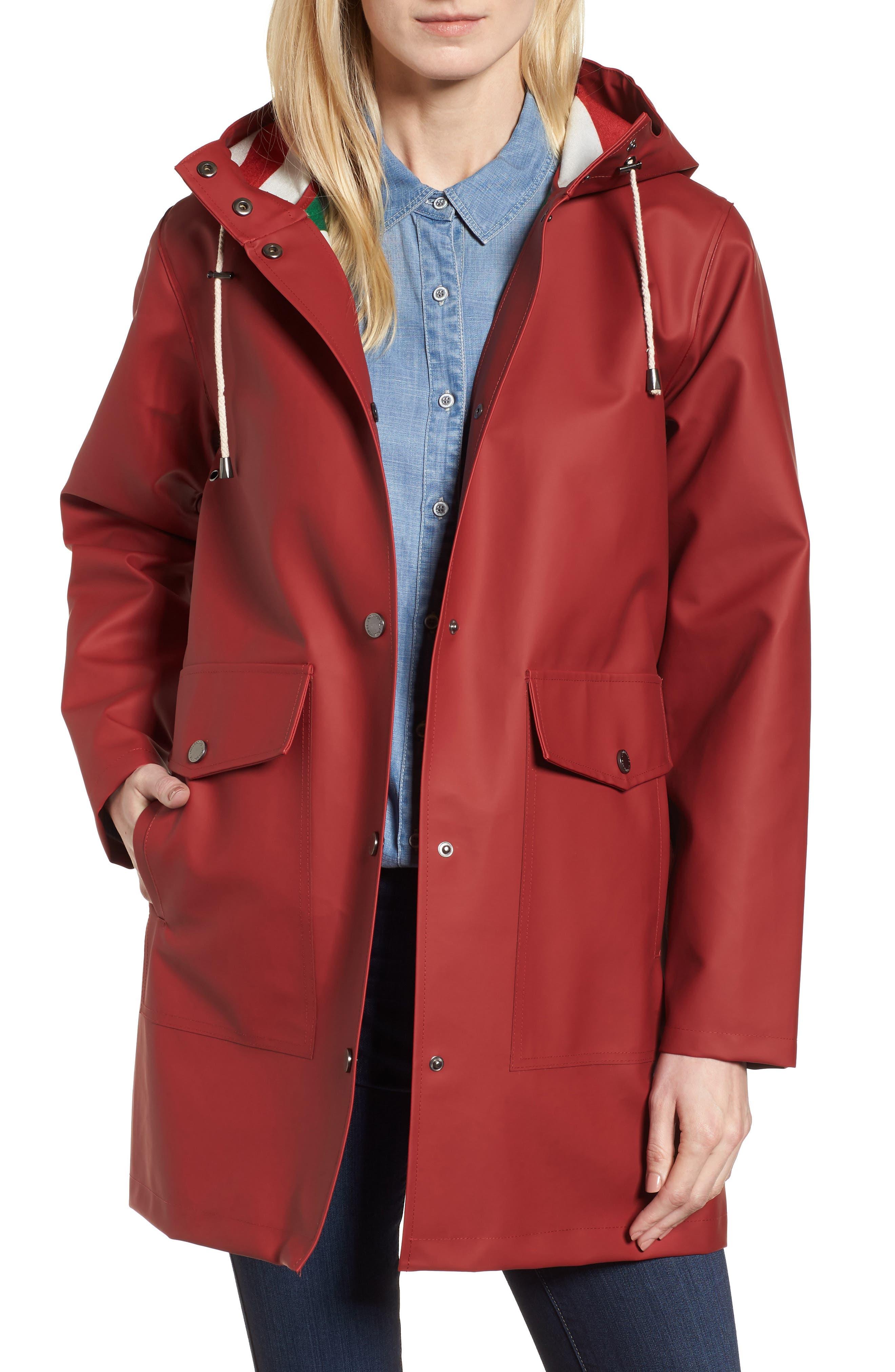 Surrey Hooded Rain Slicker,                         Main,                         color, Red