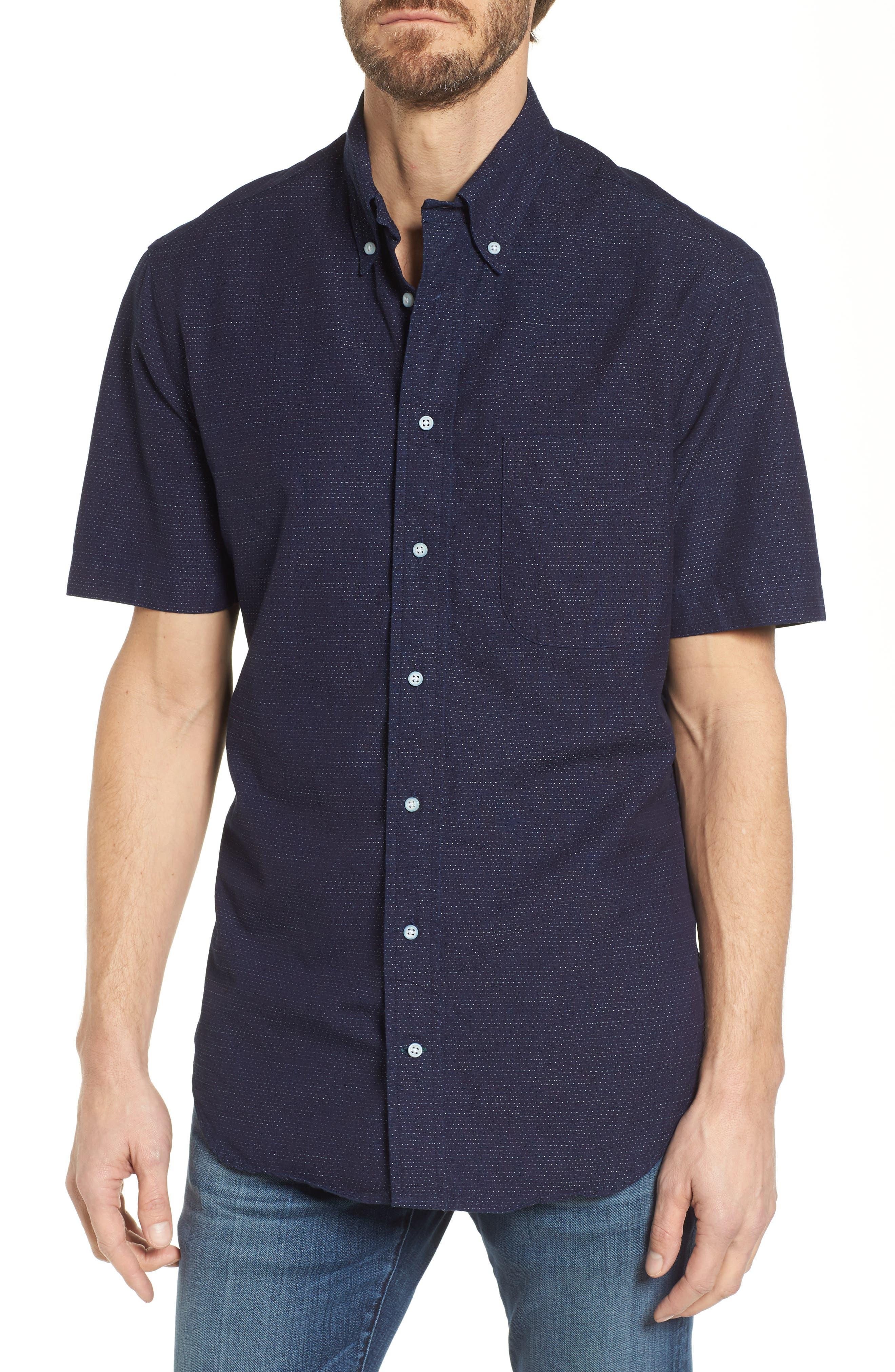 Camp Shirt,                         Main,                         color, Navy
