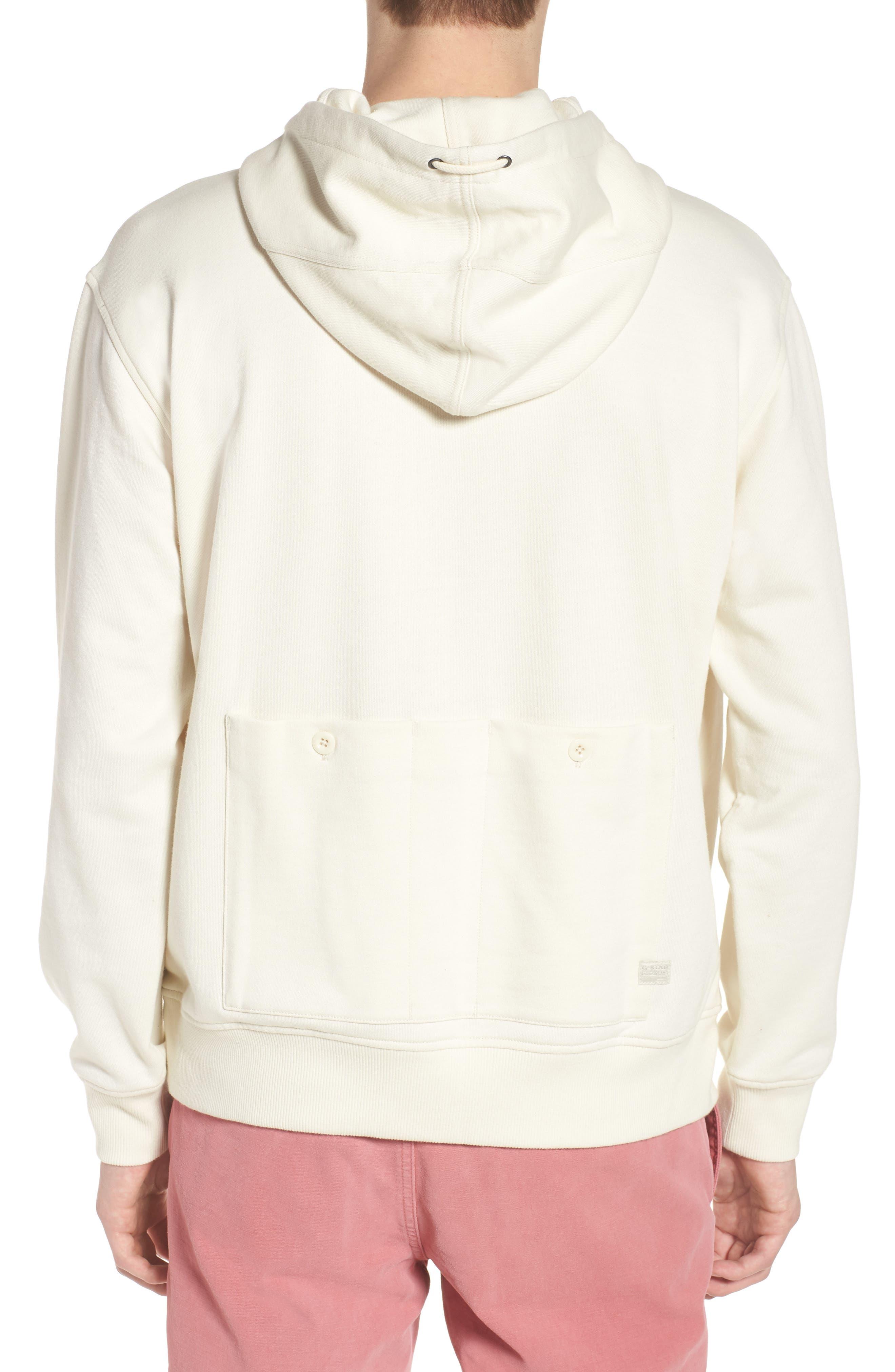 Core Hybrid Archive Hooded Sweatshirt,                             Alternate thumbnail 2, color,                             Ivory