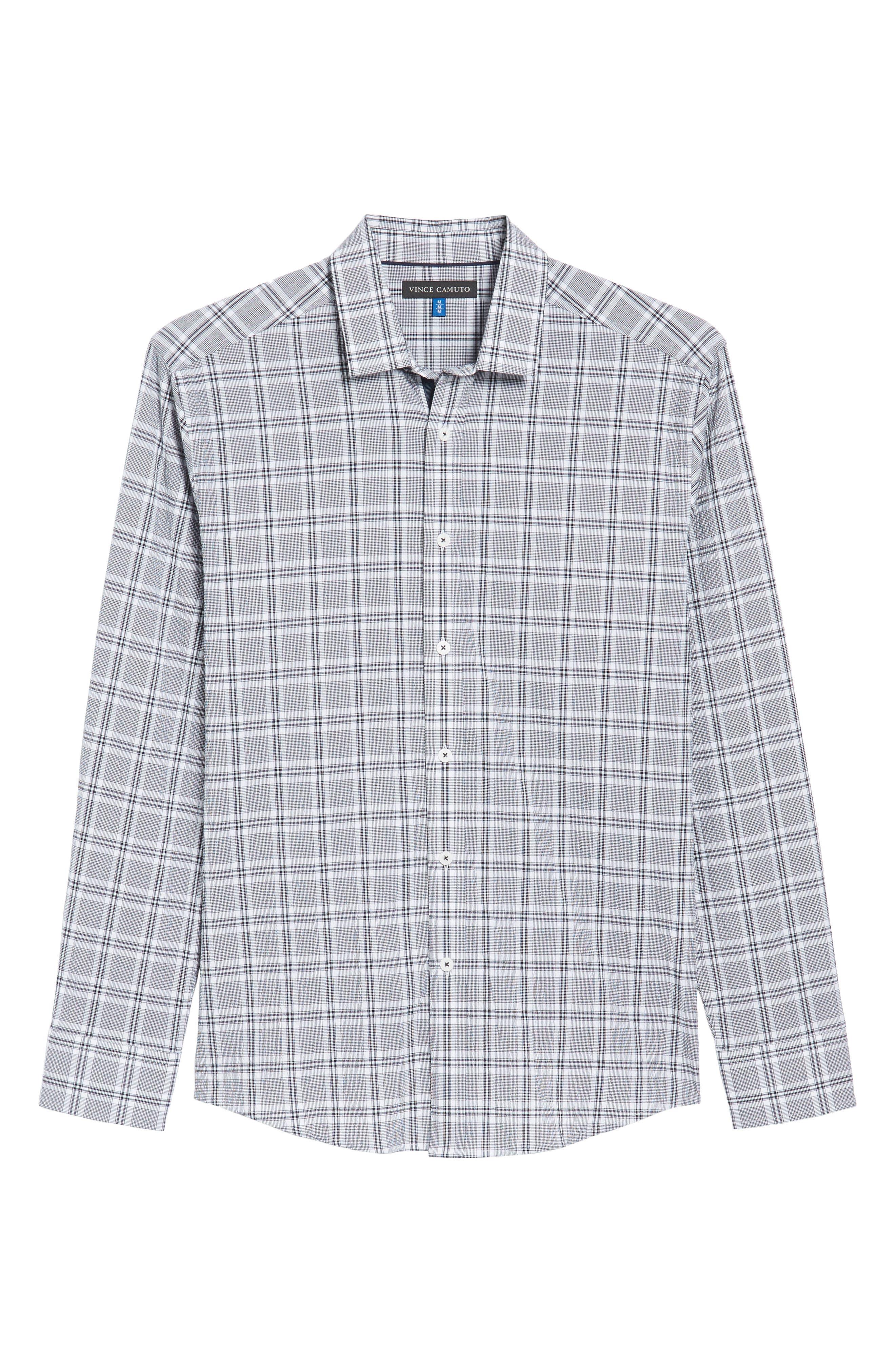 Alternate Image 6  - Vince Camuto Slim Fit Plaid Seersucker Sport Shirt