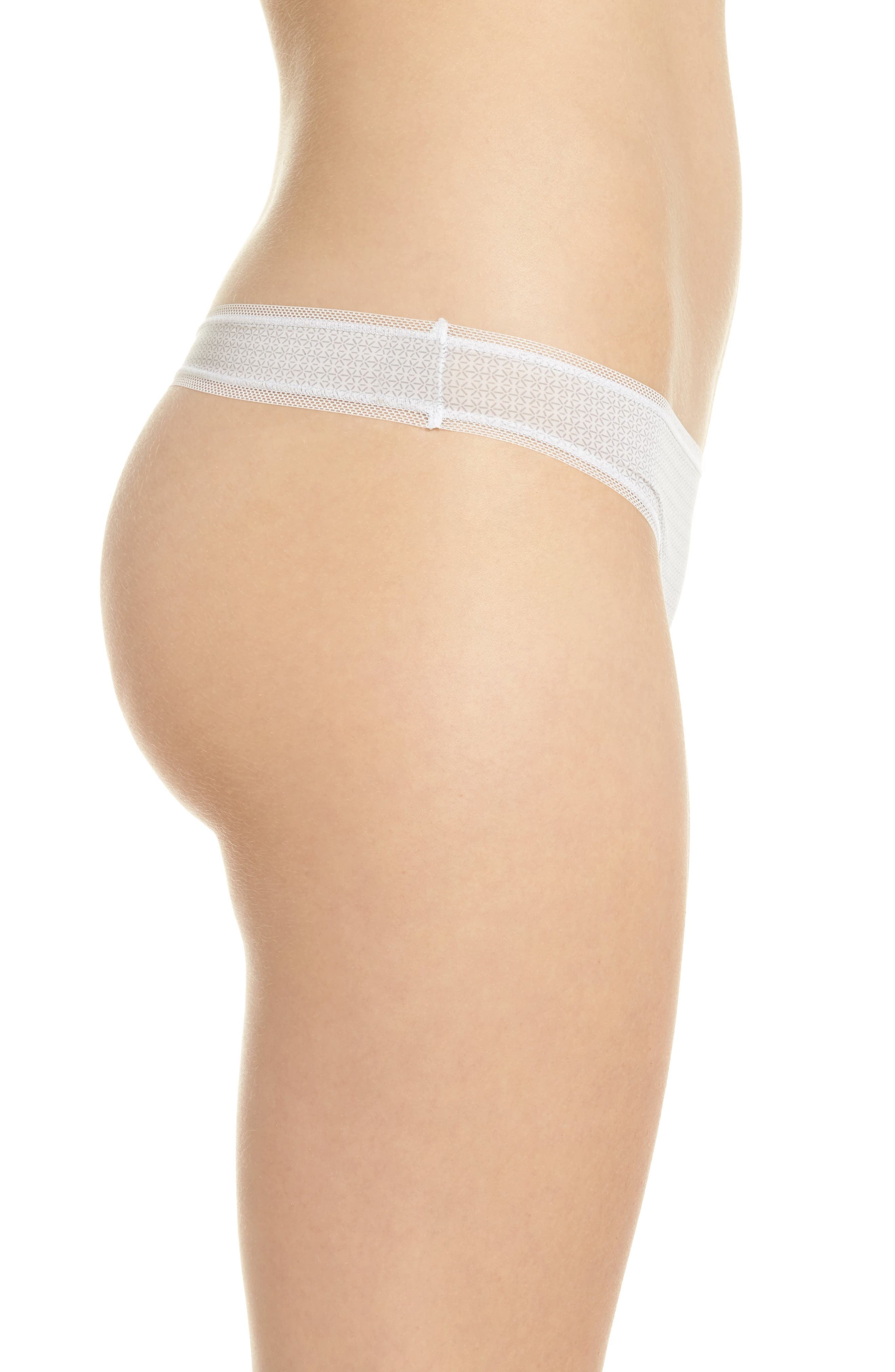Alternate Image 3  - DKNY Low Rise Thong (3 for $33)