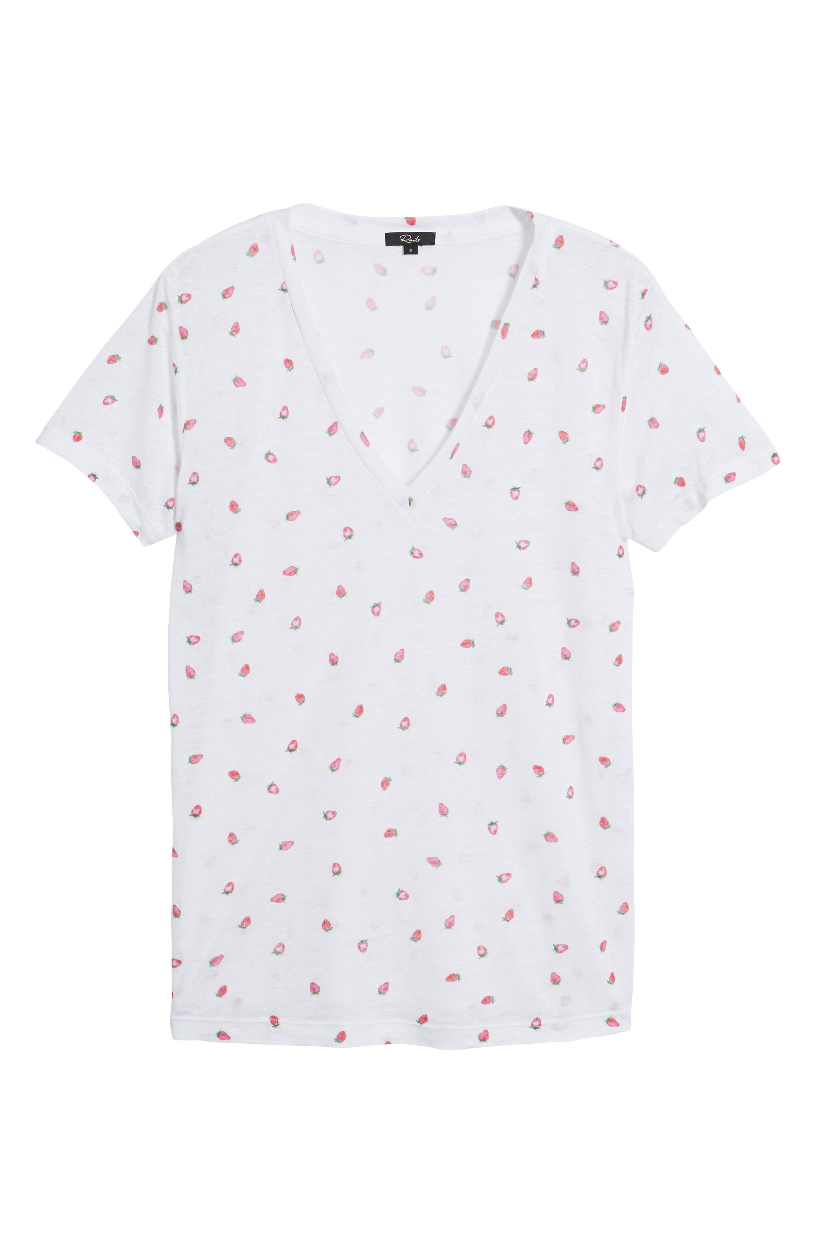 Cara Strawberry Tee,                             Alternate thumbnail 6, color,                             Strawberries