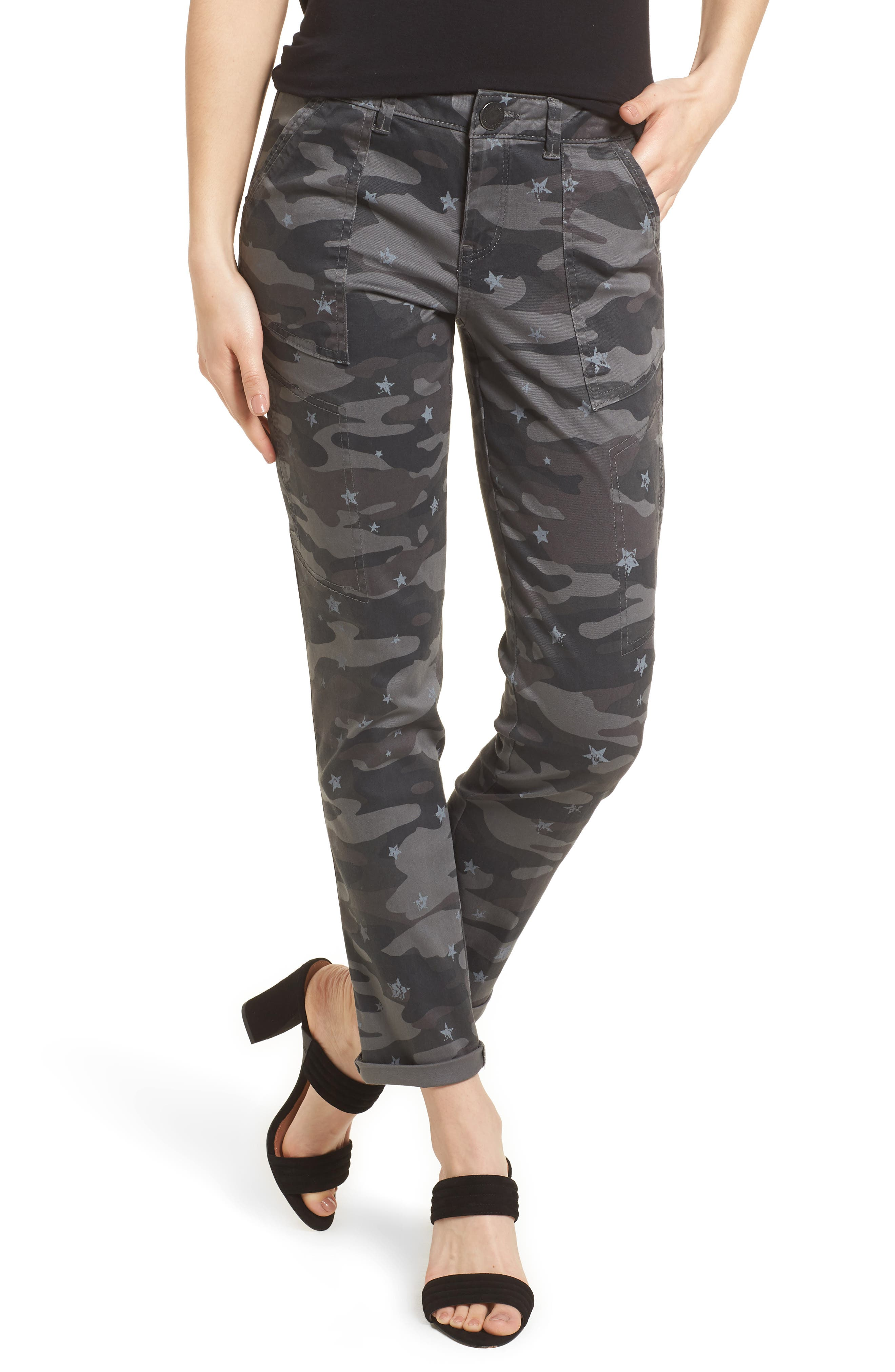 Twill Star Camo Cargo Pants,                         Main,                         color, Cc- Charcoal